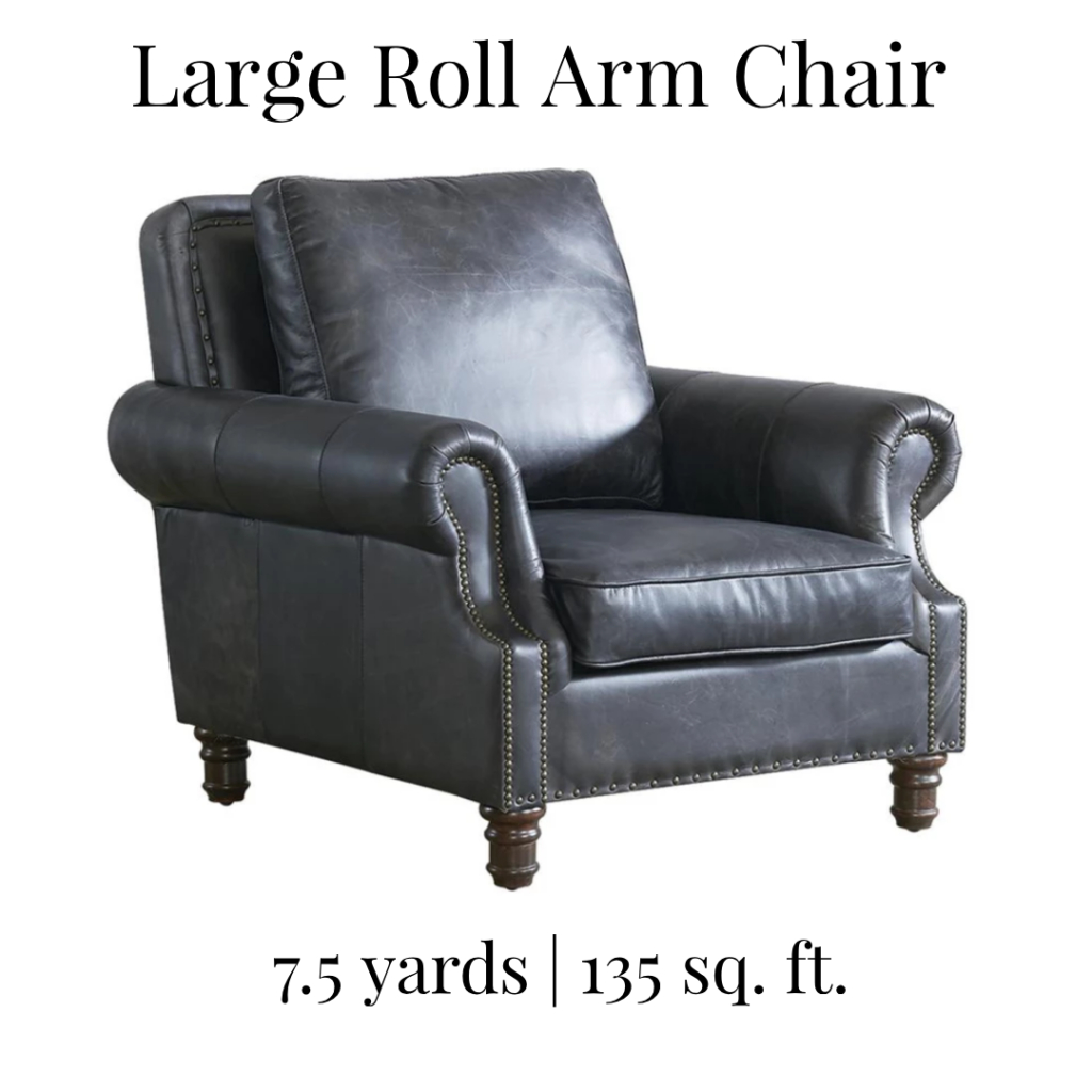 How Many Yards Of Fabric Do I Need To Recover A Large Roll Within Munson Linen Barrel Chairs (View 9 of 15)