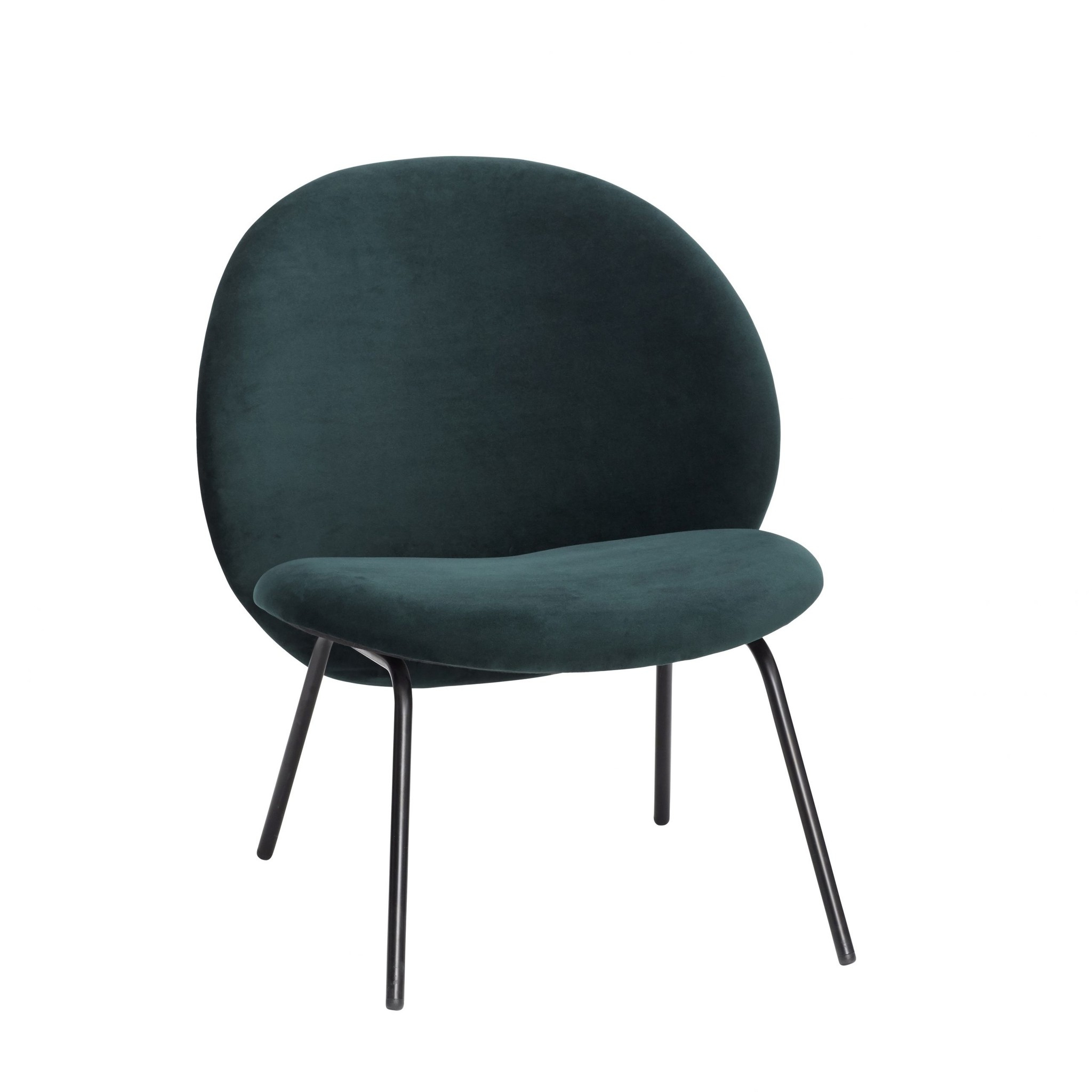 Hübsch Lounge Chair With Metal Legs – Green For Lounge Chairs With Metal Leg (View 4 of 15)