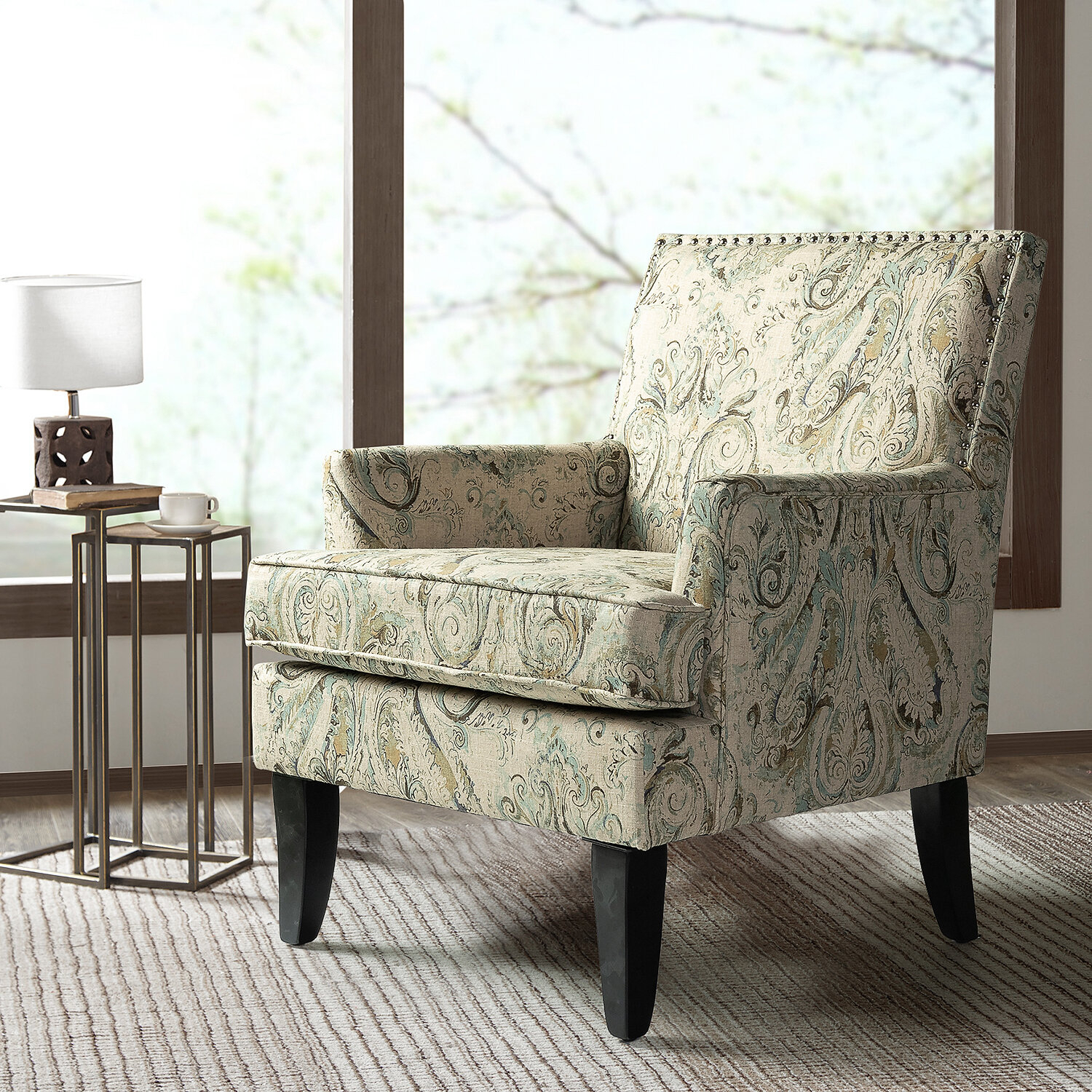 Hutchinsen Polyester Blend Armchair Pertaining To Deer Trail Armchairs (View 10 of 15)