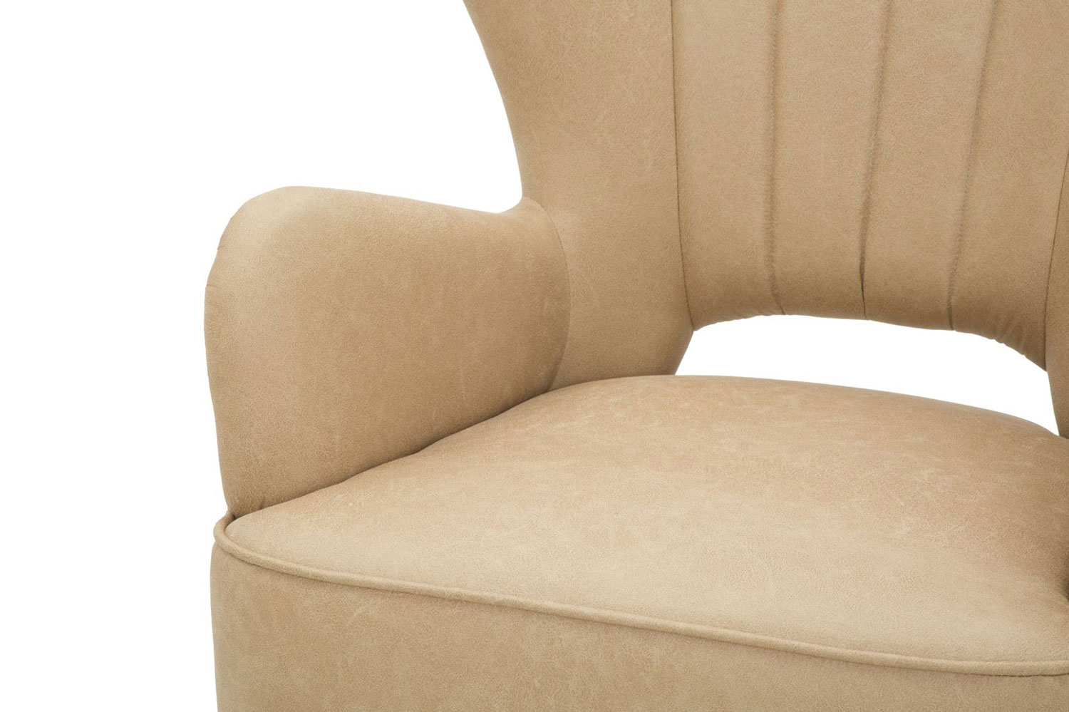 Industrial Style Design Armchair In Faux Leather And Wood With Montenegro Faux Leather Club Chairs (View 14 of 15)
