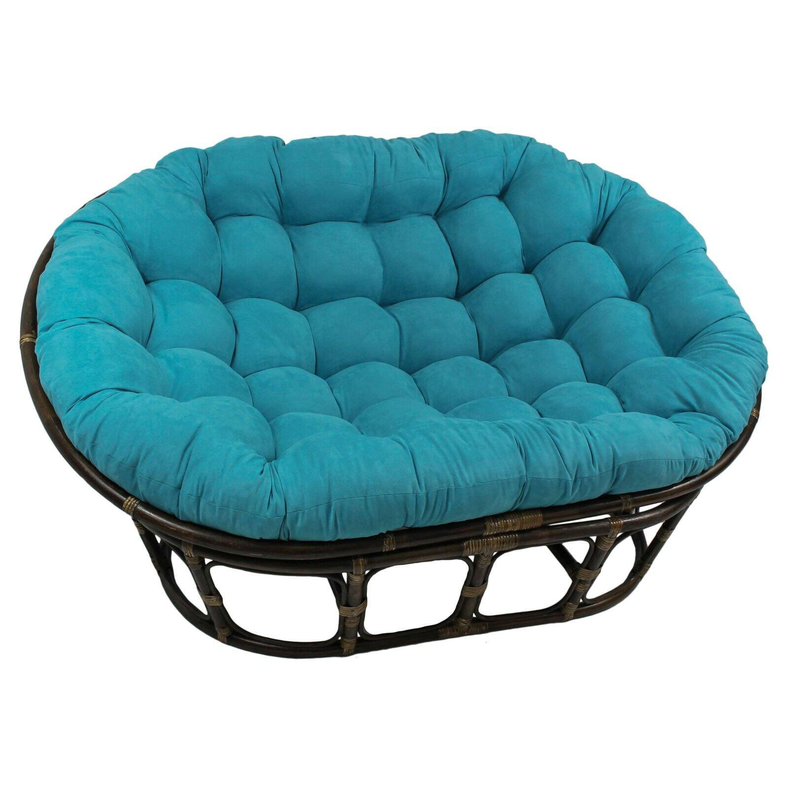 International Caravan Double Papasan Chair With Micro Suede Cushion – Walmart Intended For Decker Papasan Chairs (View 13 of 15)