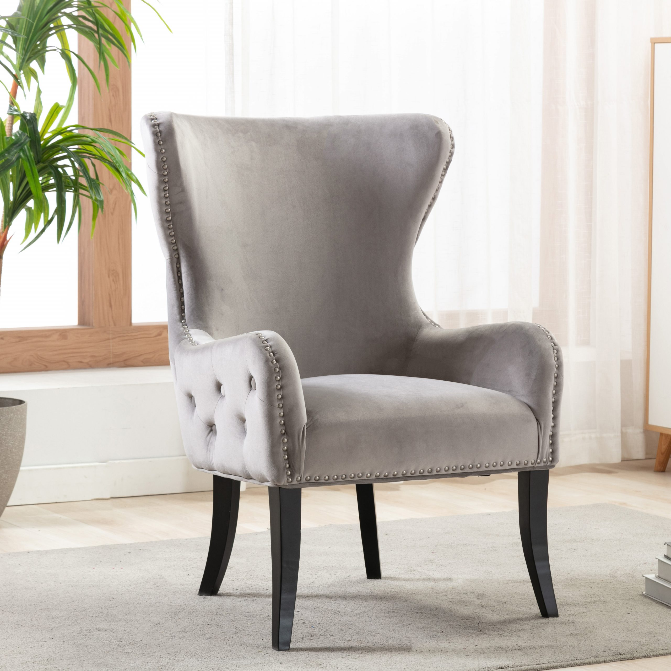 Ishaan Wingback Chair Pertaining To Bouck Wingback Chairs (View 14 of 15)