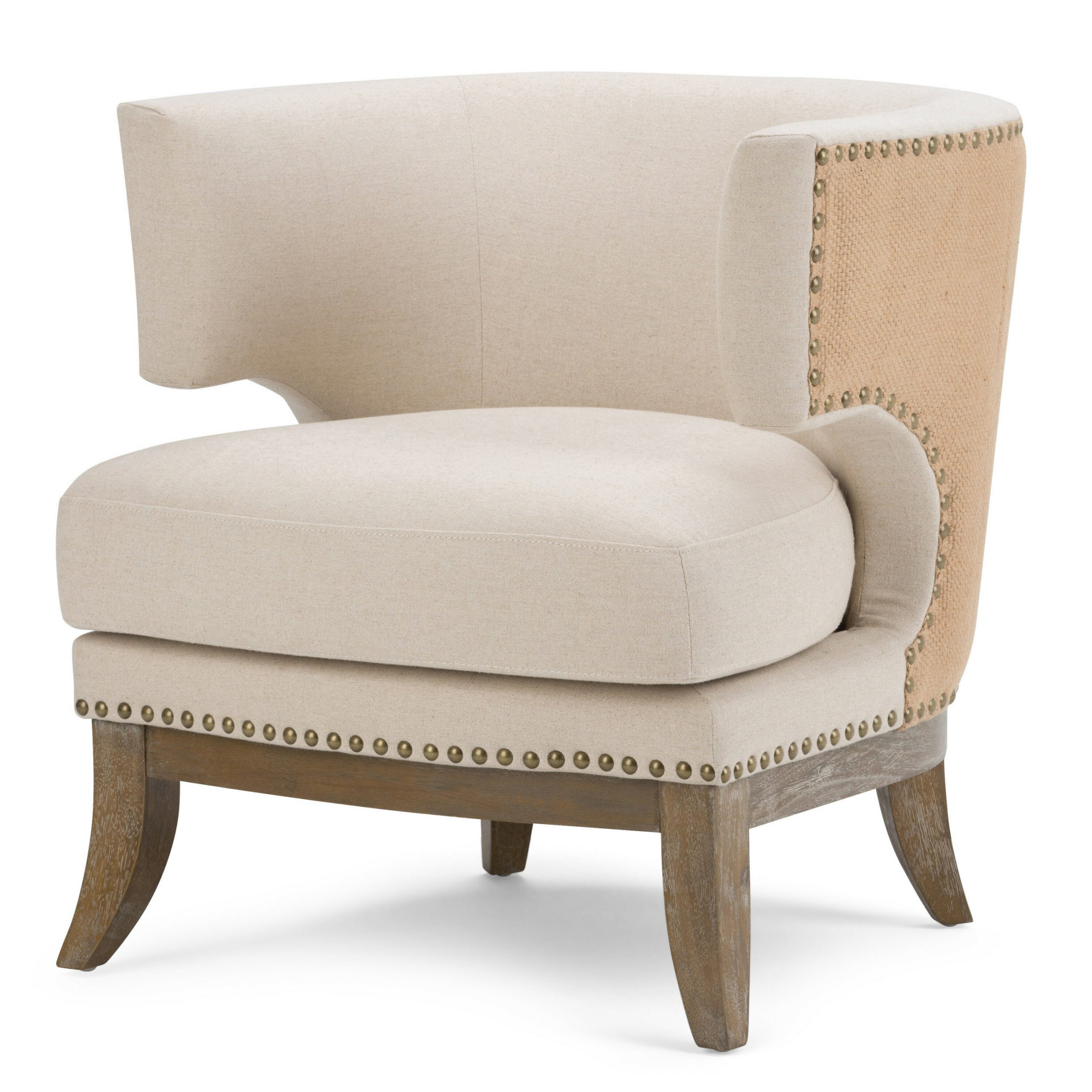 Jaden Barrel Chair Regarding Barnard Polyester Barrel Chairs (View 7 of 15)