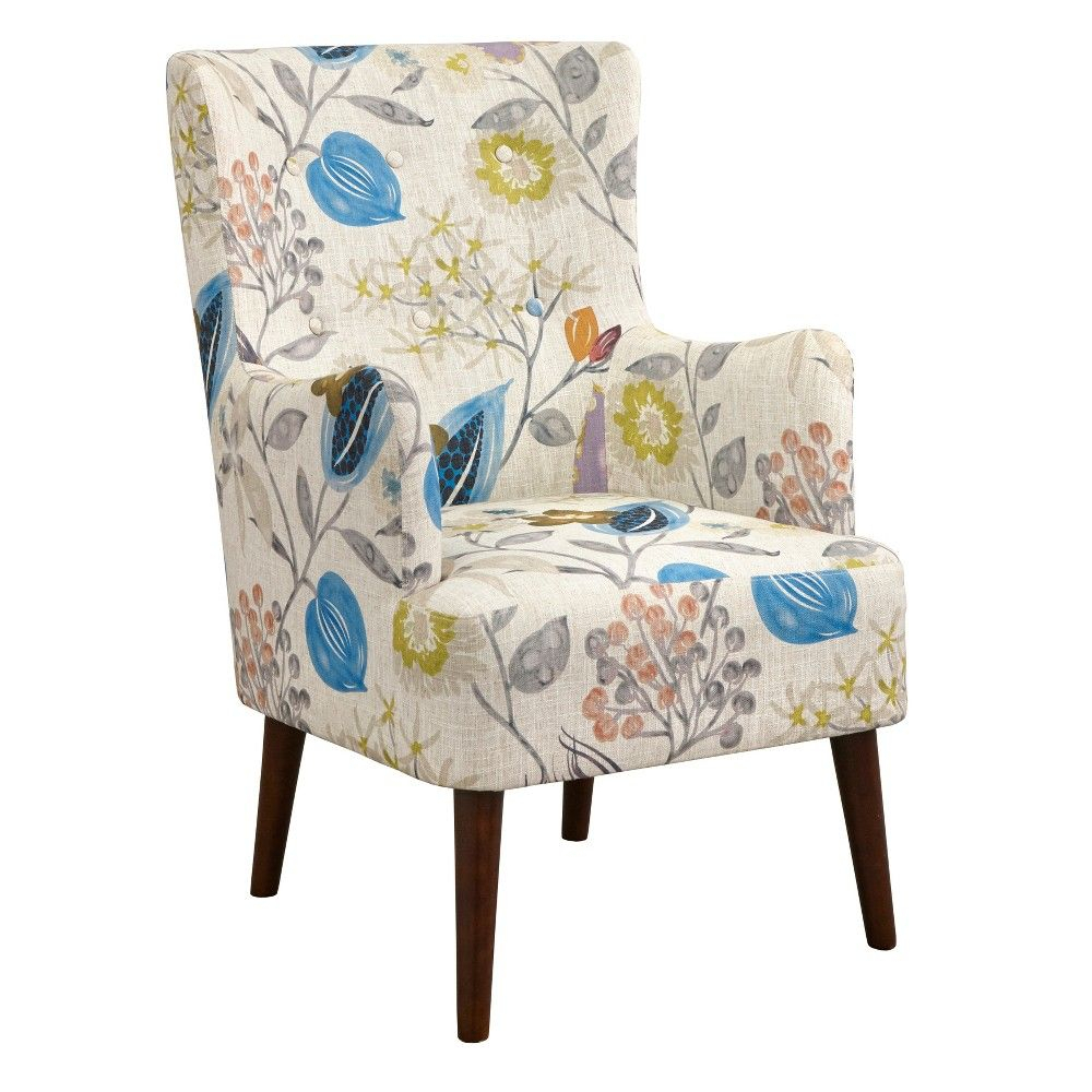 Jane Chair Floral Pop – Angelo:home | Cheap Leather Chairs Intended For Waterton Wingback Chairs (View 7 of 15)