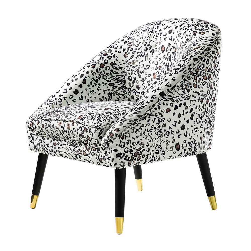 Jayden Creation Larisa Leopard Tufted Barrel Chair Chm0020 Leopard – The Home Depot Throughout Ronda Barrel Chairs (View 12 of 15)
