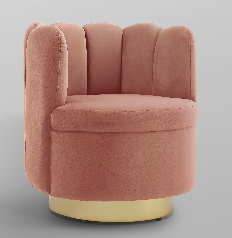 Jett Velvet Swivel Barrel Chair In Bronaugh Barrel Chairs (View 14 of 15)
