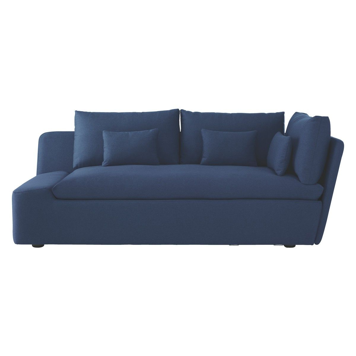 Kasha Blue Fabric Left Arm Lounger | Seater Sofa, Blue Sofa In Kasha Armchairs (View 11 of 15)