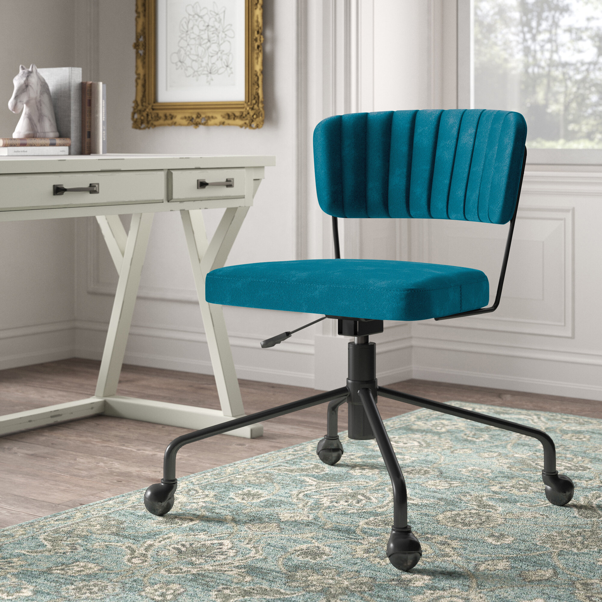 Kelly Clarkson Home Fabric Office Chairs You'Ll Love In 2021 In Hutchinsen Polyester Blend Armchairs (View 15 of 15)