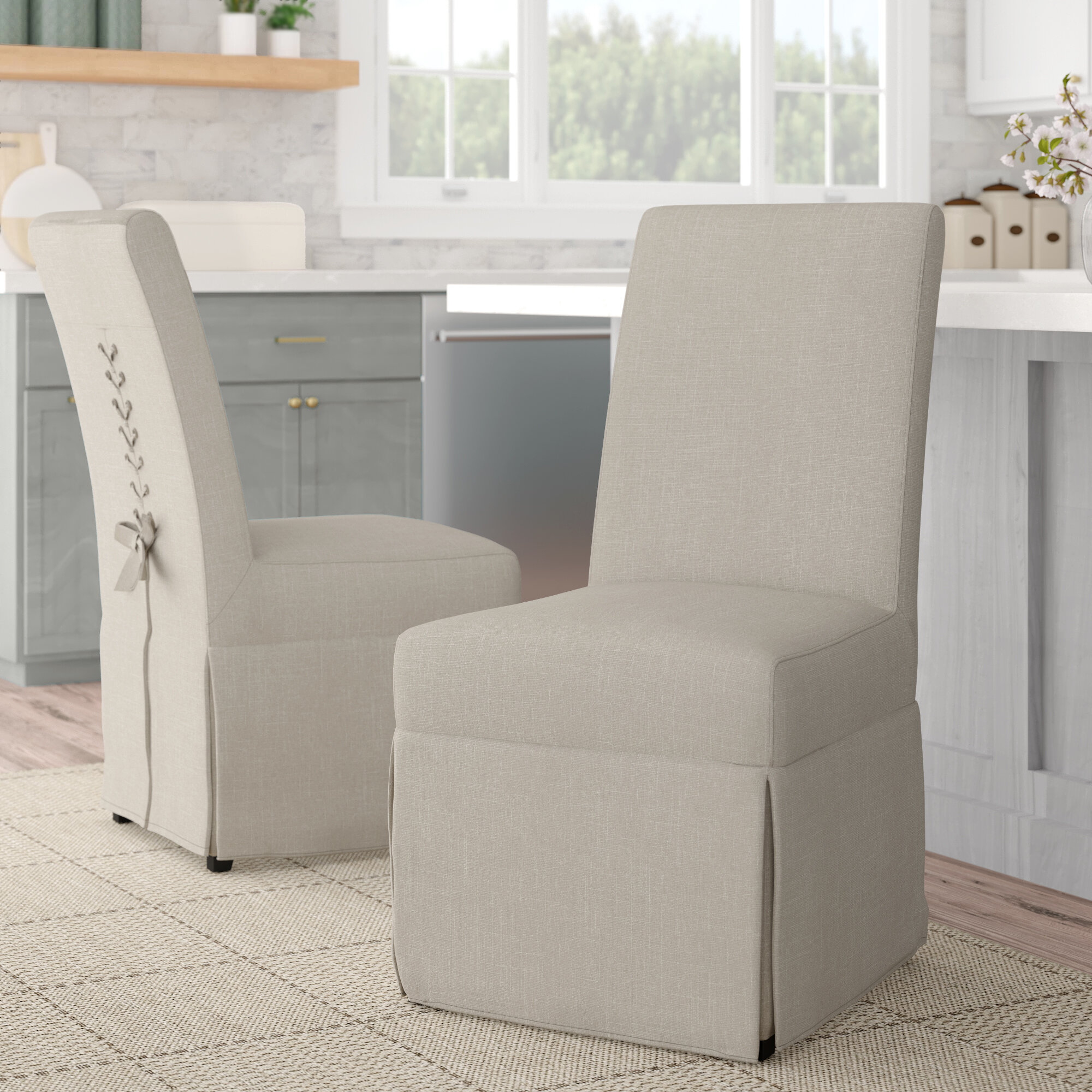 Kesha Upholstered Dining Chair Within Bob Stripe Upholstered Dining Chairs (Set Of 2) (View 11 of 15)