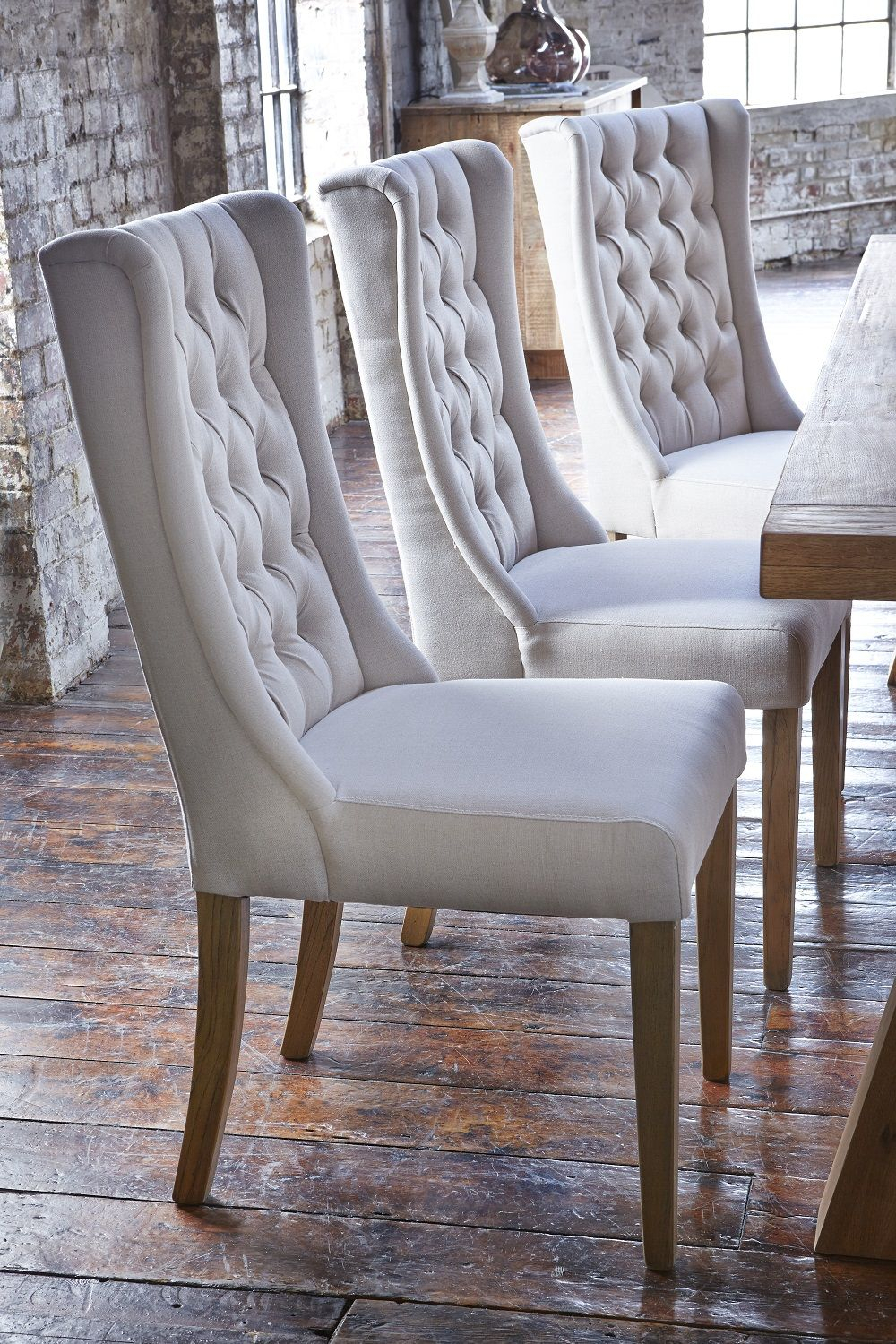 Kipling Fabric Dining Chair, Cream & Oak – Barker Within Aime Upholstered Parsons Chairs In Beige (View 9 of 15)