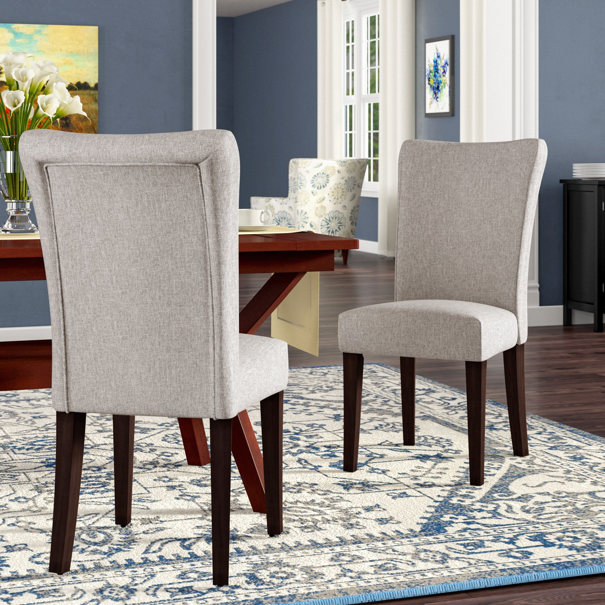 Lancaster Upholstered Dining Chair | Dining Room Chairs In Bob Stripe Upholstered Dining Chairs (Set Of 2) (View 2 of 15)