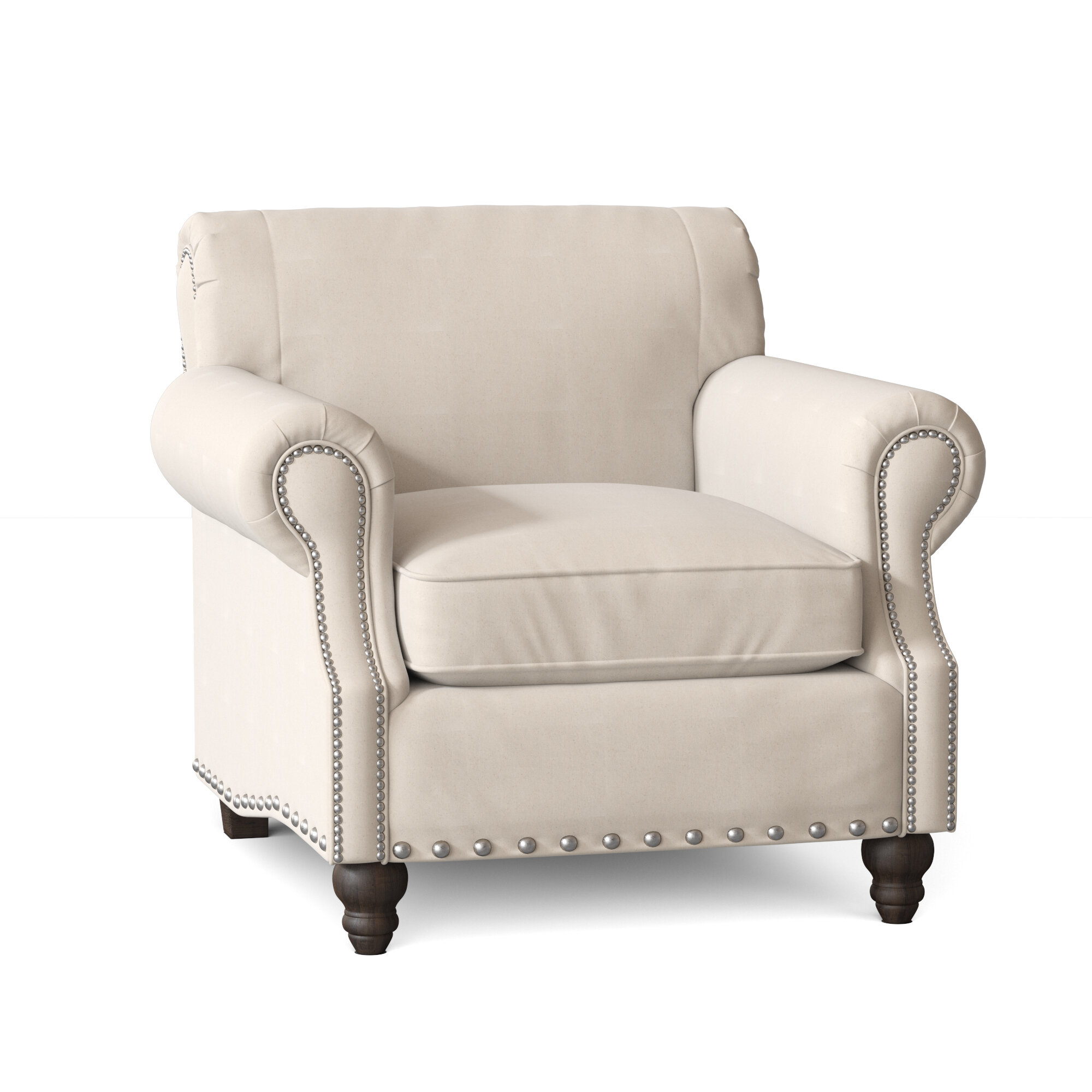 "Landry 40"" W Polyester Blend Down Cushion Armchair Intended For Polyester Blend Armchairs (View 6 of 15)"