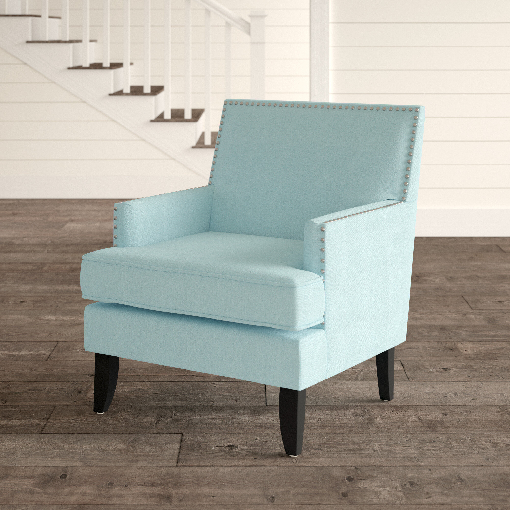 "Lars 24"" Armchair In Munson Linen Barrel Chairs (View 13 of 15)"