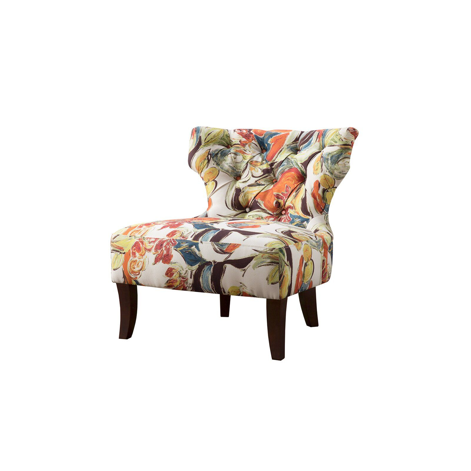 Latitude Run Glen Wingback Chair | Wayfair | Chair, Armless Regarding Waterton Wingback Chairs (View 5 of 15)