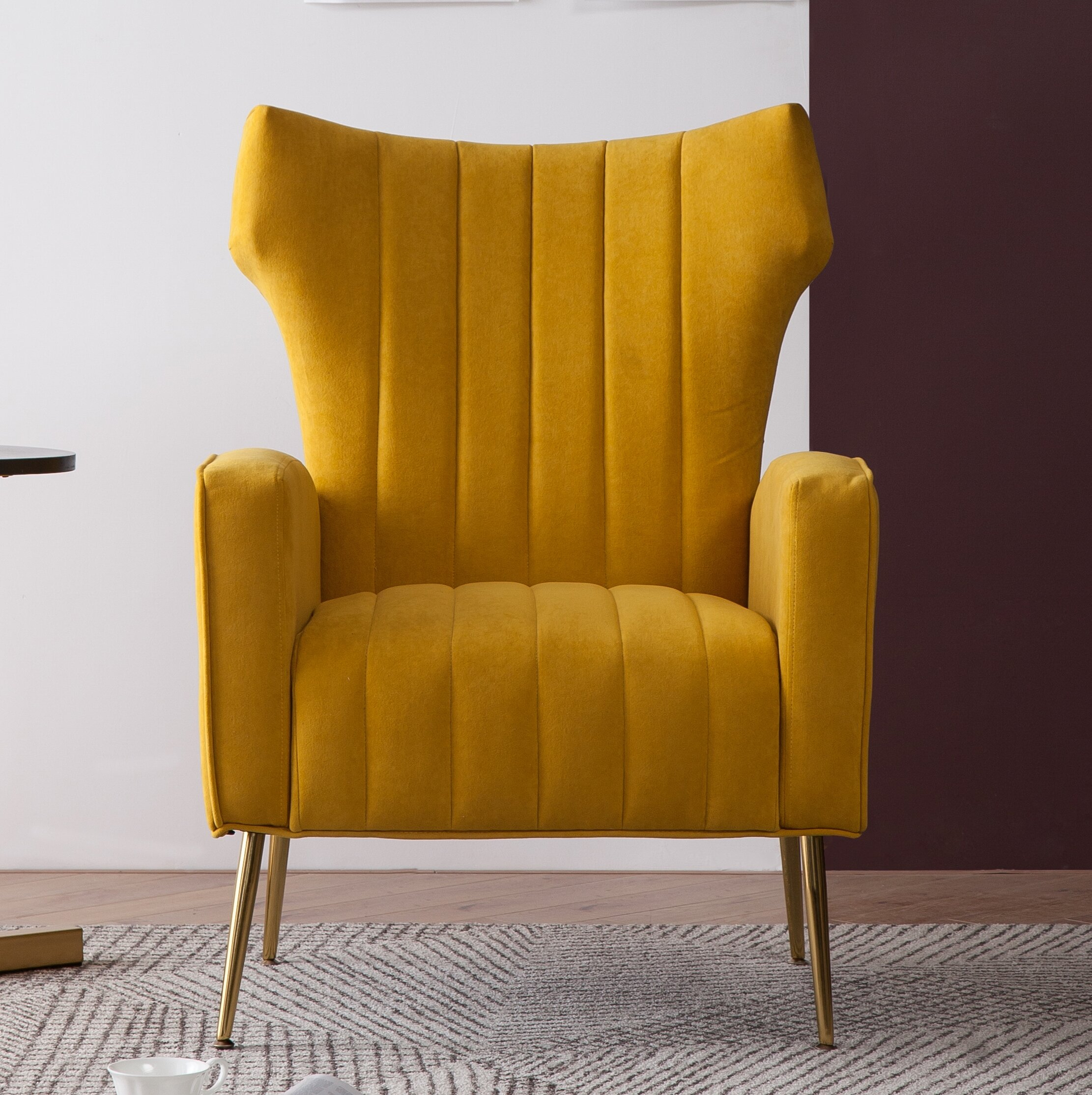 Lauretta Wingback Chair For Lauretta Velvet Wingback Chairs (View 3 of 15)