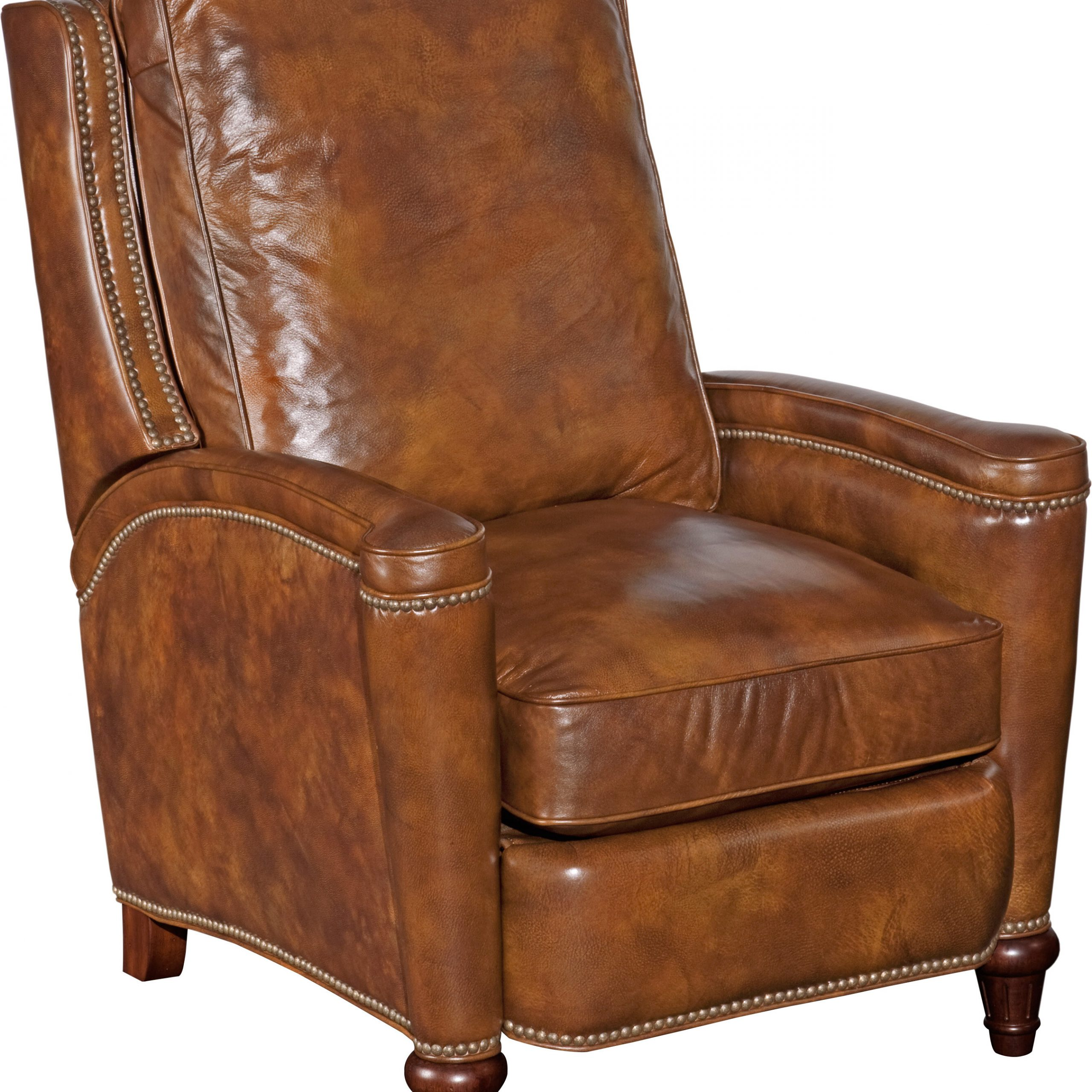 Leather Manual Recliner With Regard To Coomer Faux Leather Barrel Chairs (View 7 of 15)