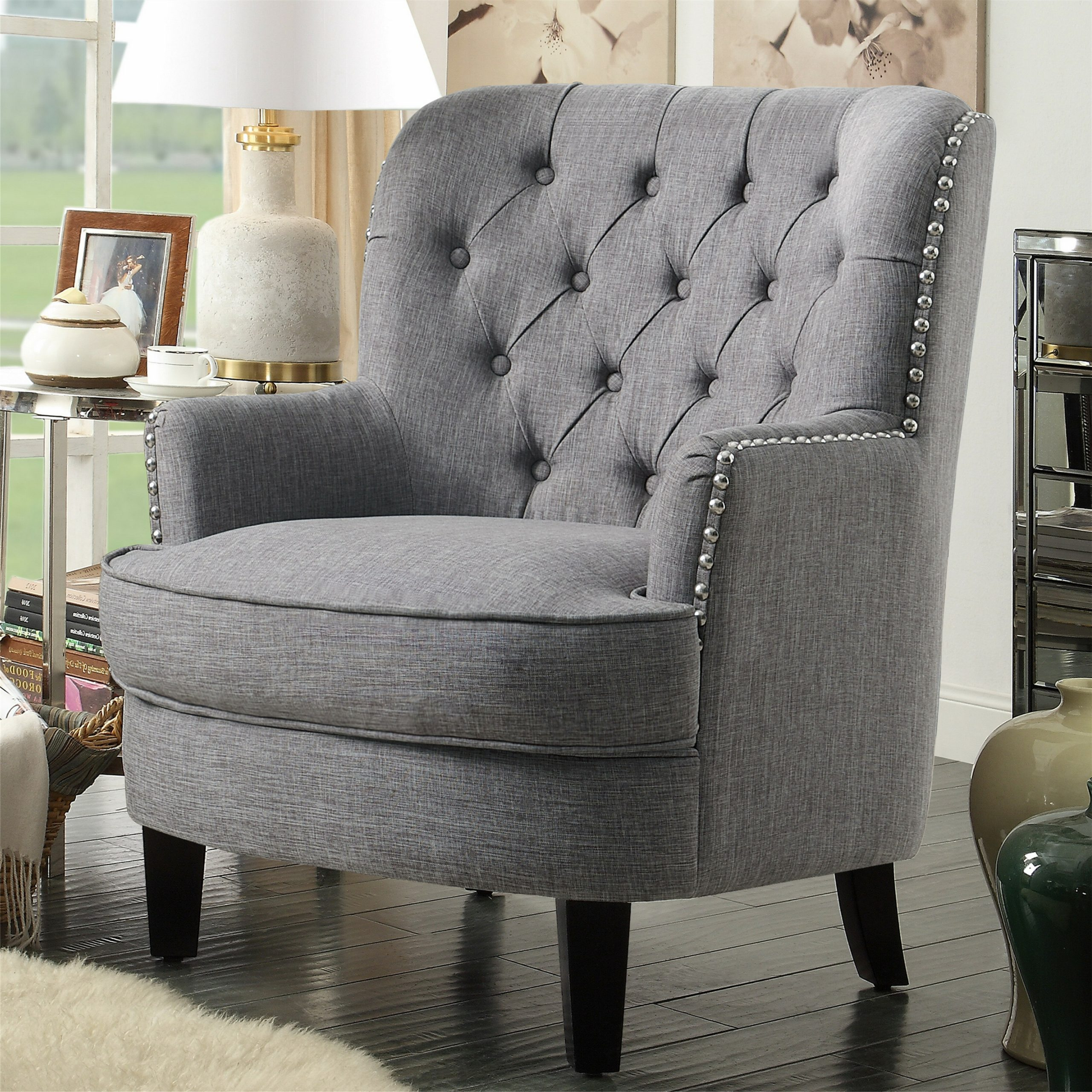 Lenaghan Wingback Chair Intended For Lenaghan Wingback Chairs (View 2 of 15)