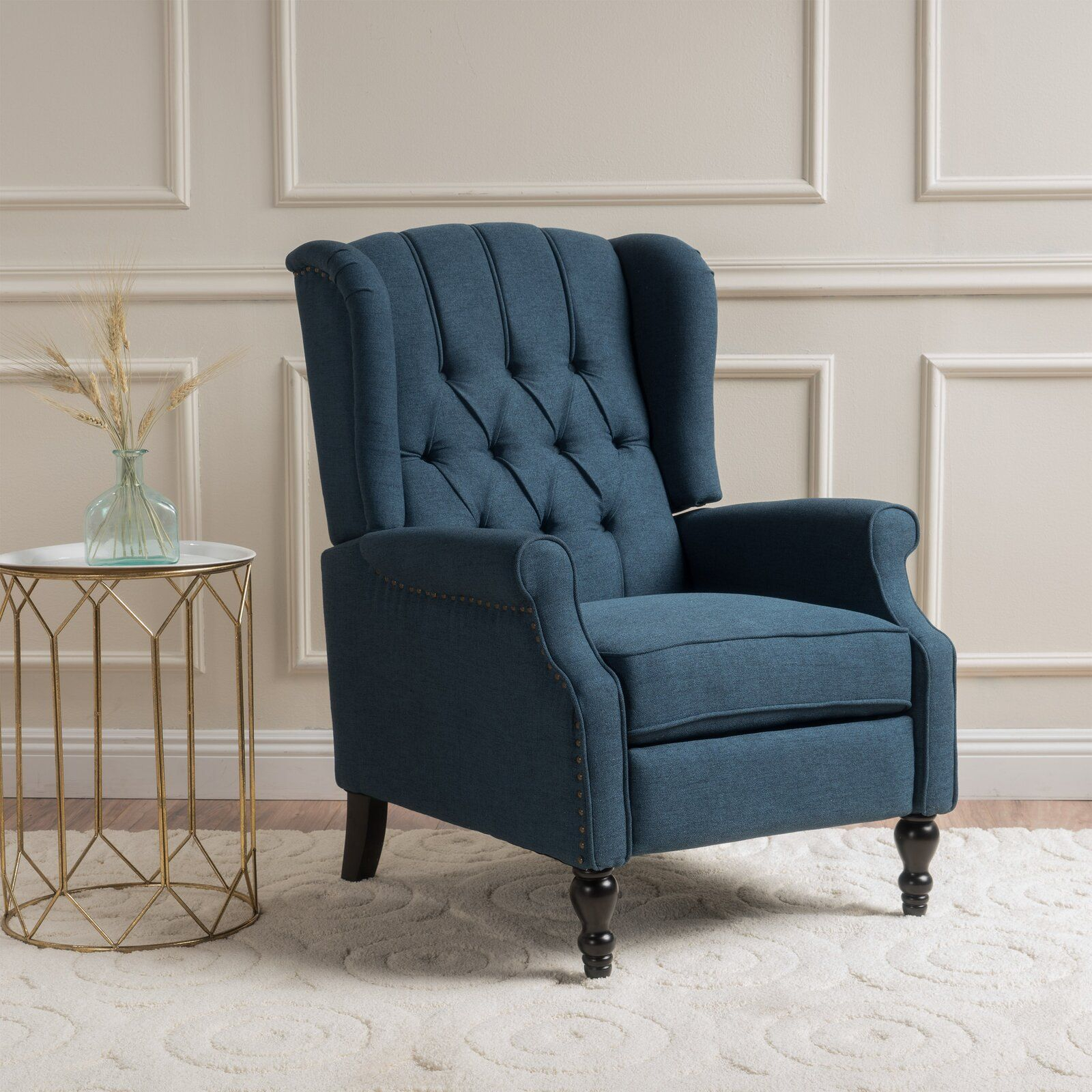 Leonie Manual Recliner | Furniture, Farmhouse Recliner Pertaining To Andover Wingback Chairs (View 11 of 15)