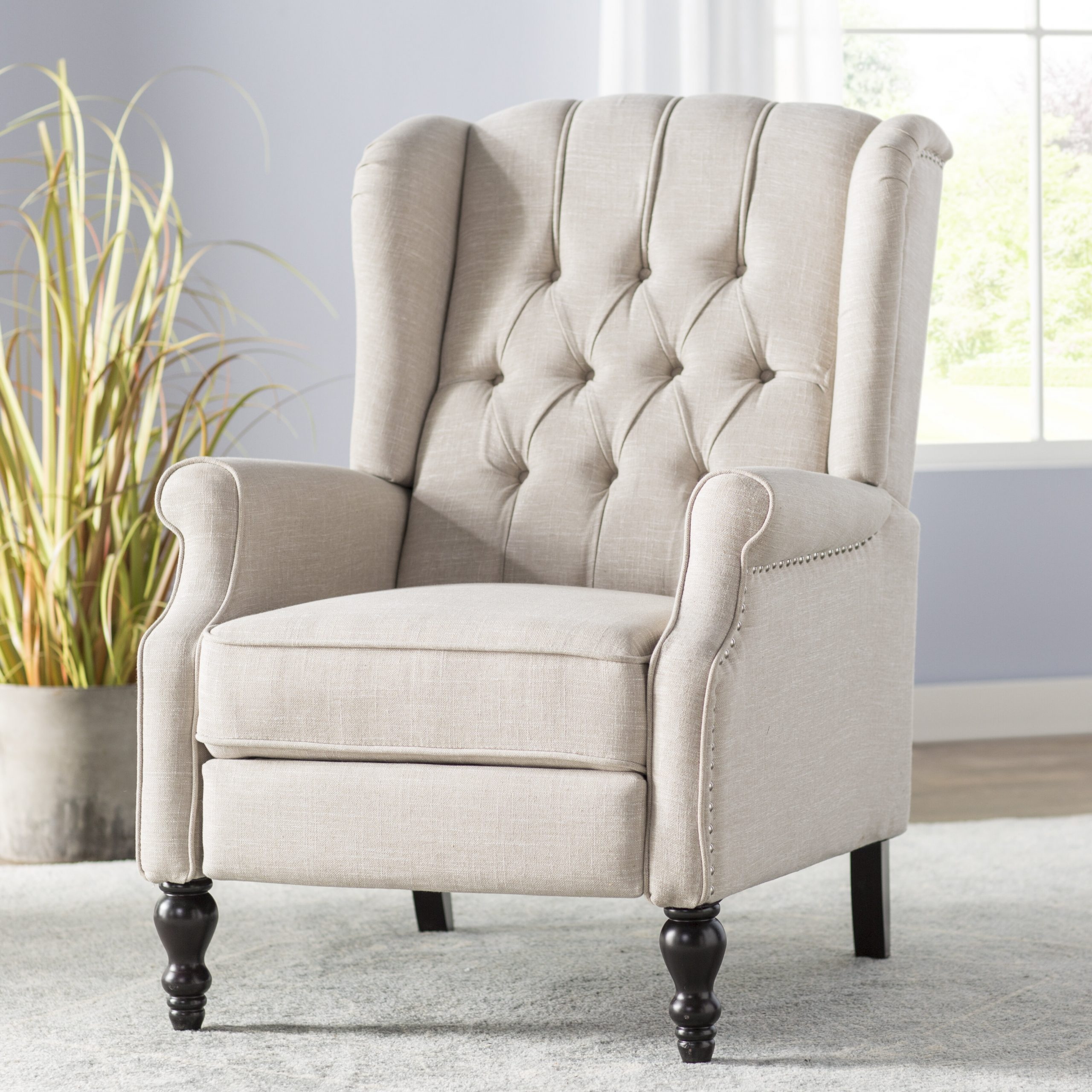 Leonie Manual Recliner With Andover Wingback Chairs (View 10 of 15)