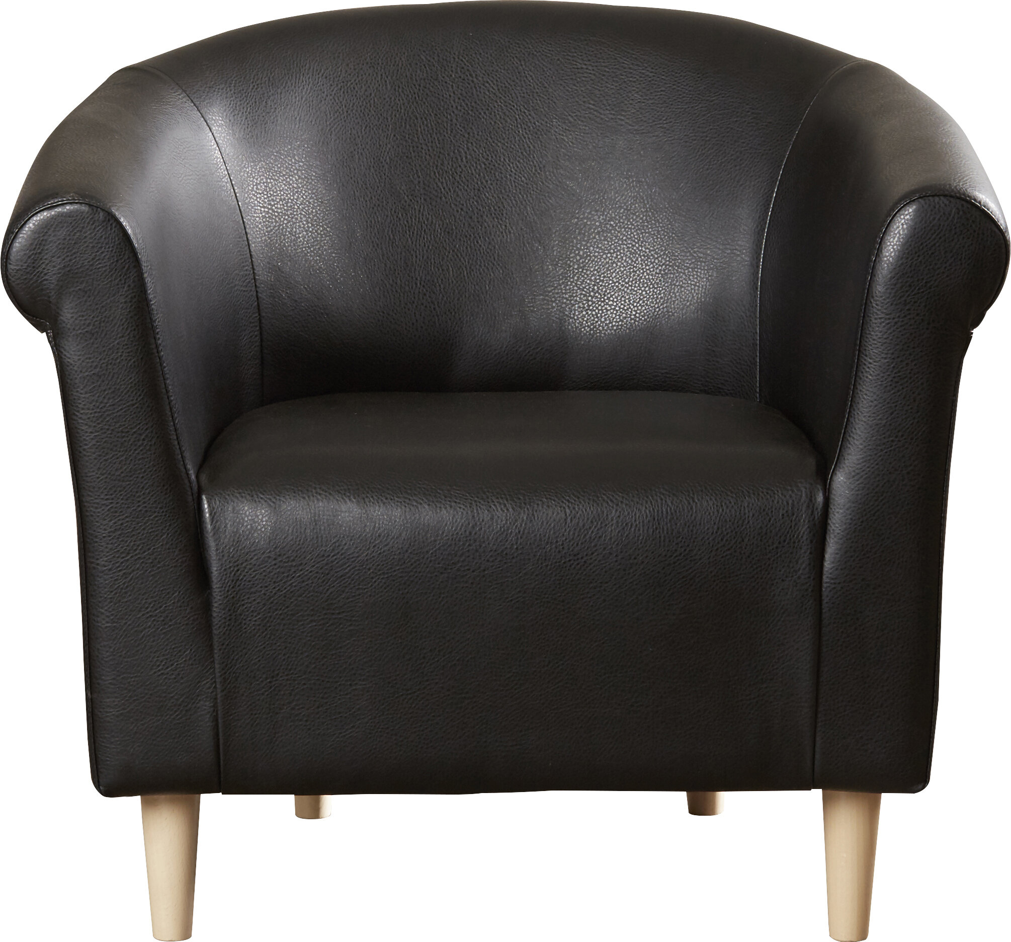 Featured Image of Liam Faux Leather Barrel Chairs