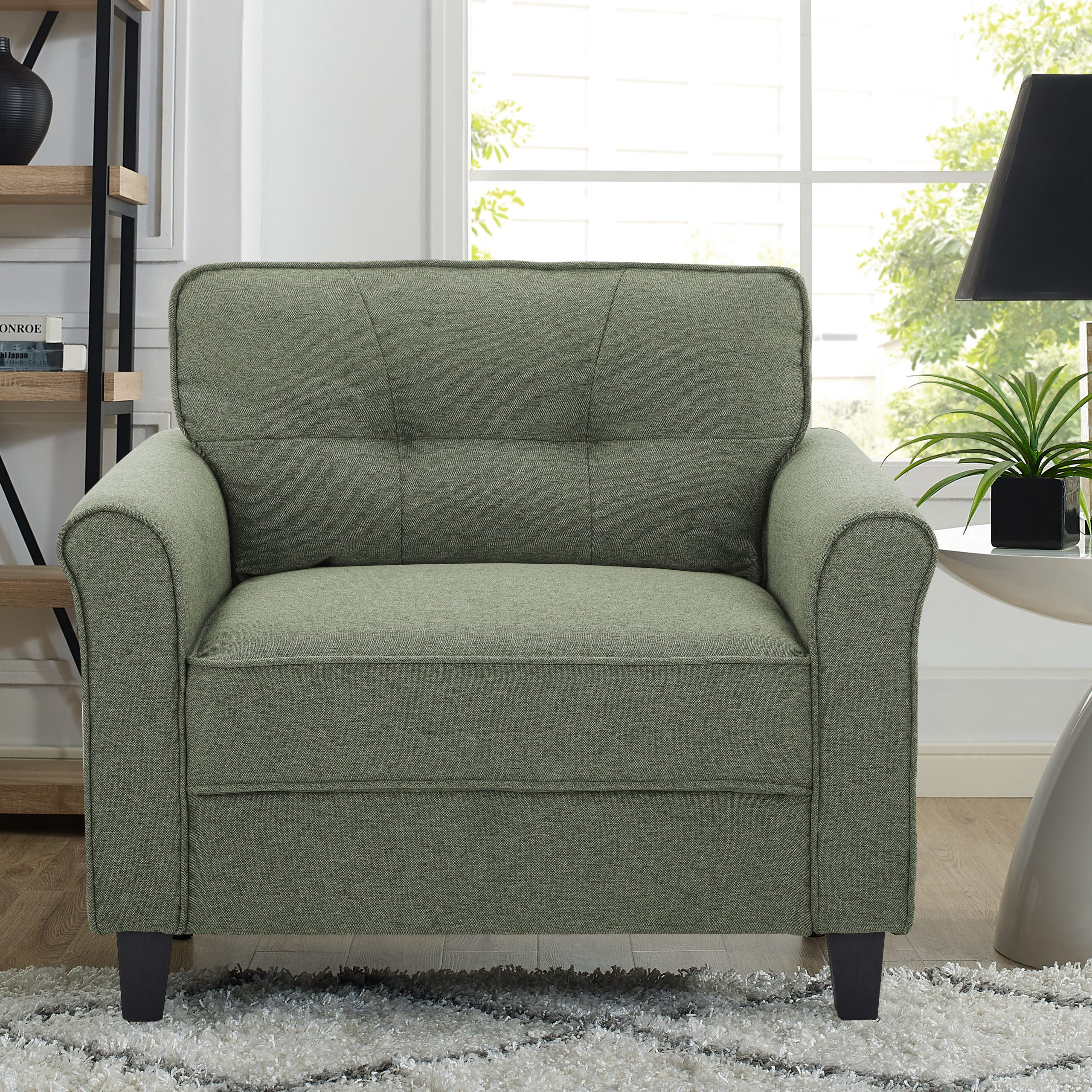 "Lifestyle Solutions 39"" W Tufted Polyester Armchair 