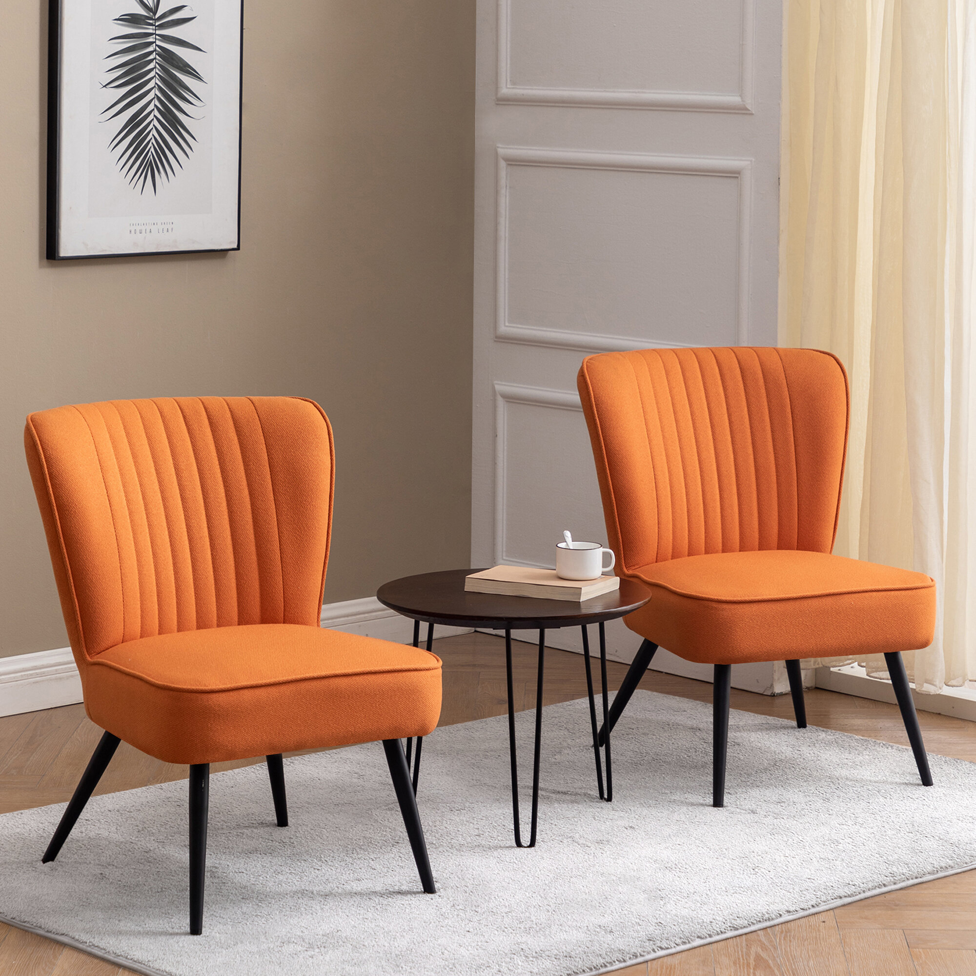 Linen Slipper Accent Chairs You'Ll Love In 2021 | Wayfair Inside Aalivia Slipper Chairs (View 12 of 15)