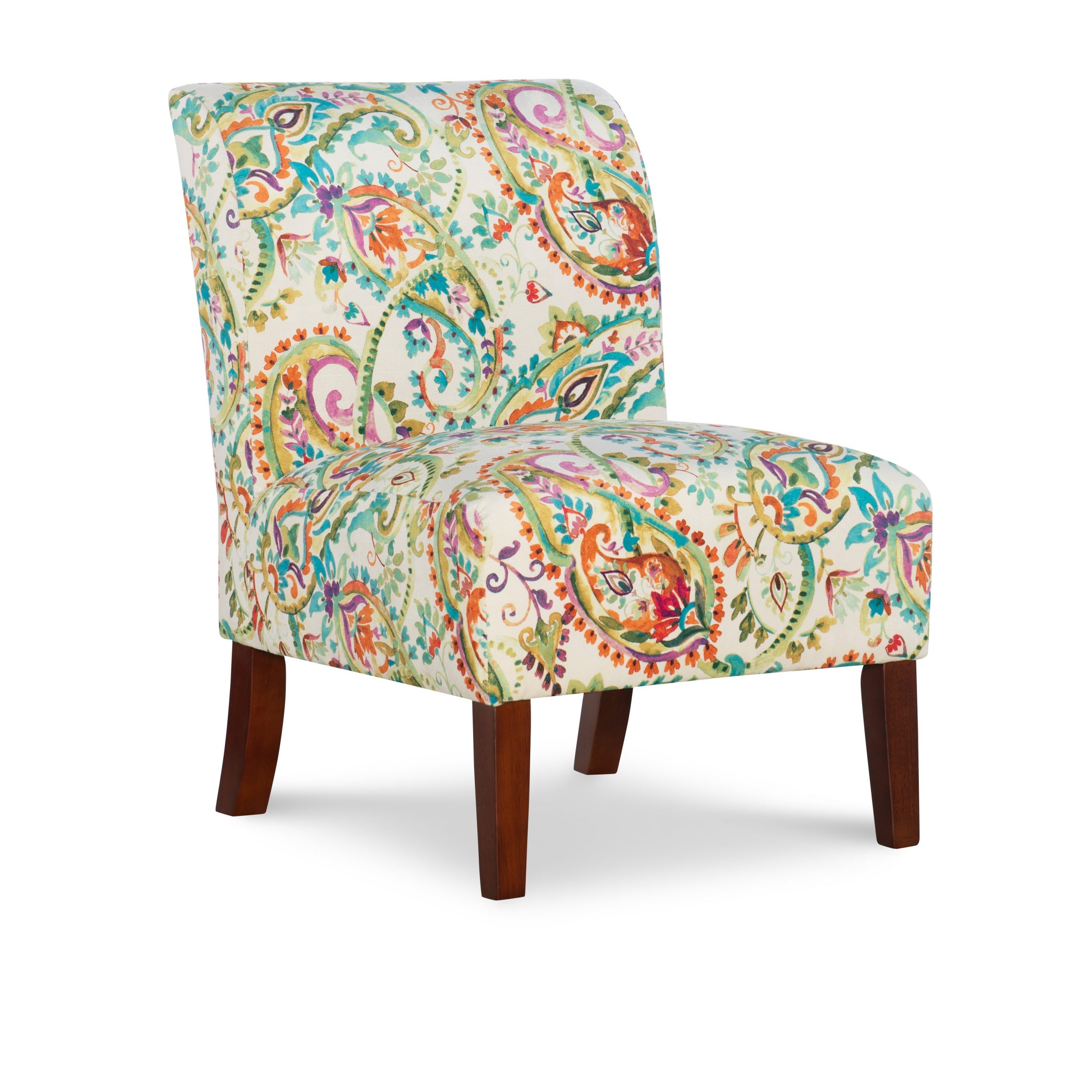 Linon Jules Curved Back Paisley Slipper Chair – Walmart With Regard To Goodyear Slipper Chairs (View 12 of 15)