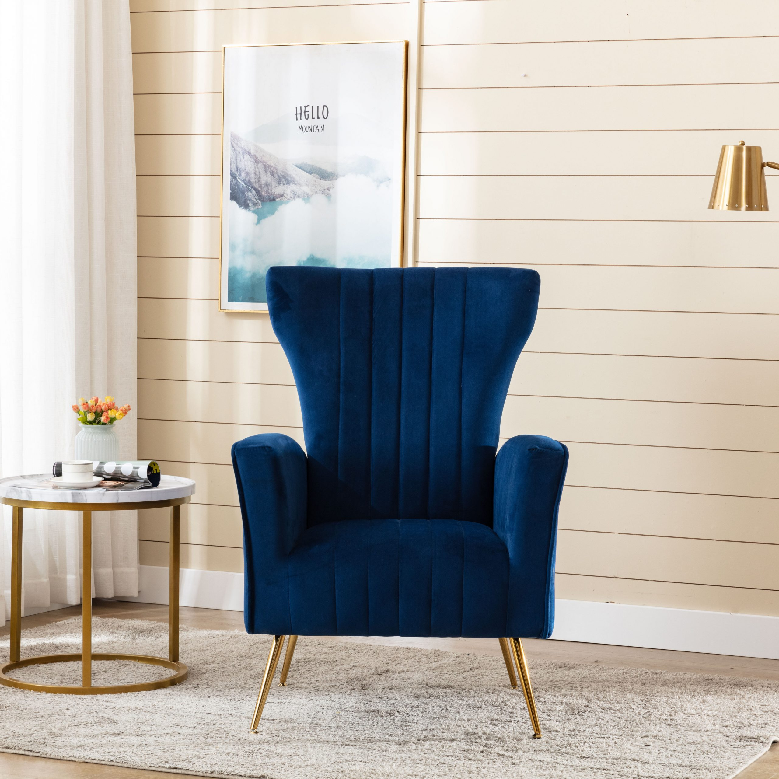 Liptak Wingback Chair Intended For Nestor Wingback Chairs (View 4 of 15)