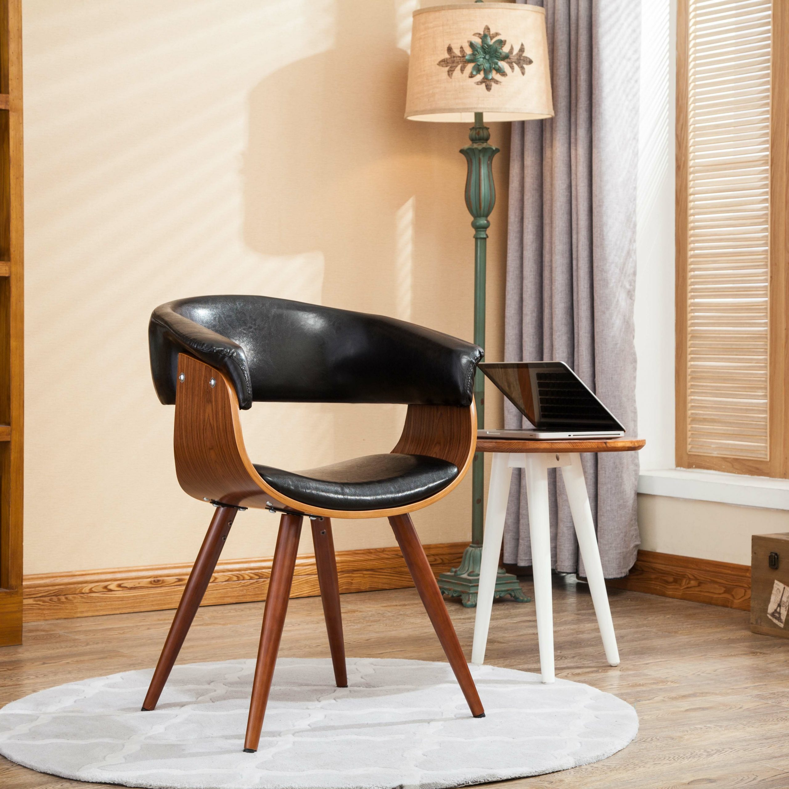 Featured Image of Liston Faux Leather Barrel Chairs