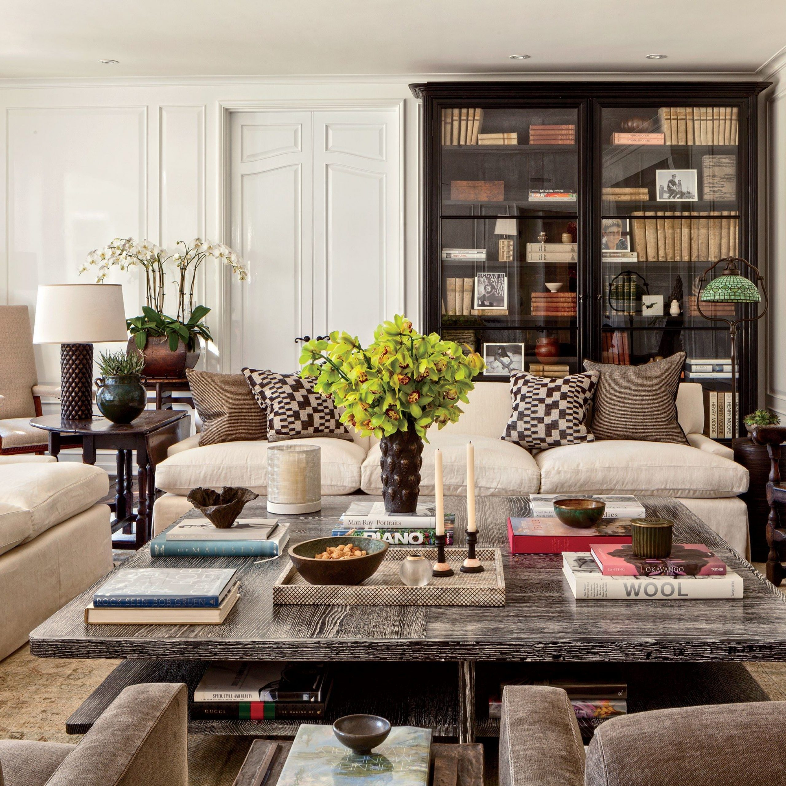 Look Inside Some Of Designer Sandy Gallin'S Most Coveted With Gallin Wingback Chairs (View 12 of 15)