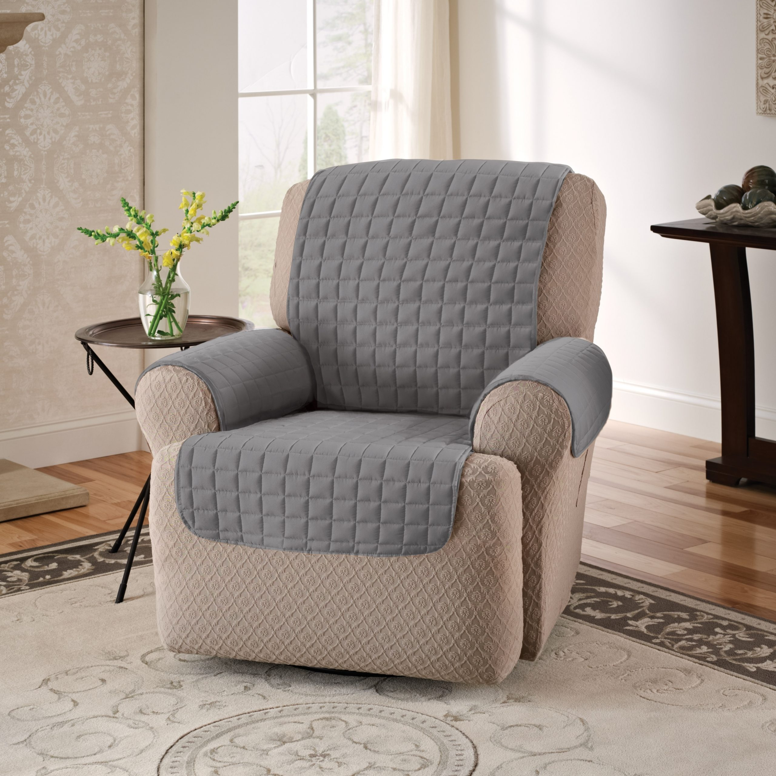 Loose Armchair Covers Protective Quilted Recliner Chair Arm In Portmeirion Armchairs (View 7 of 15)