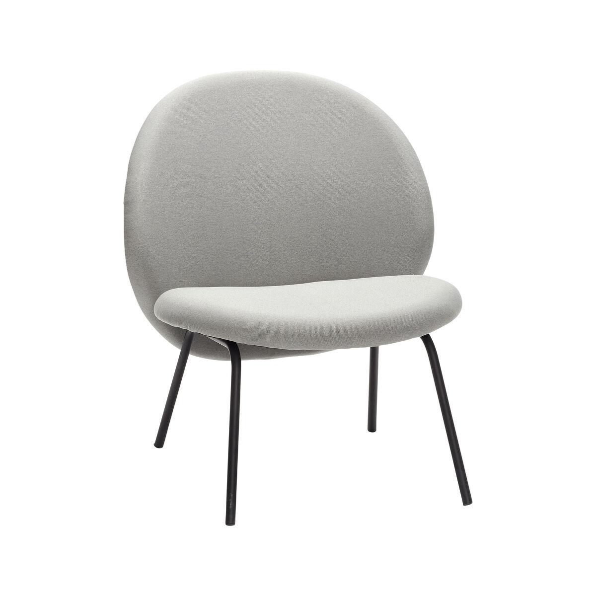 Lounge Chair, Metal Legs, Black/Grey » Hübsch With Regard To Lounge Chairs With Metal Leg (View 11 of 15)