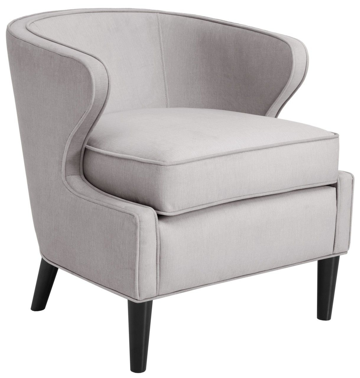 Lucca Barrel Chair – Gray | Fabric Accent Chair, Mattress Inside Lau Barrel Chairs (View 5 of 15)