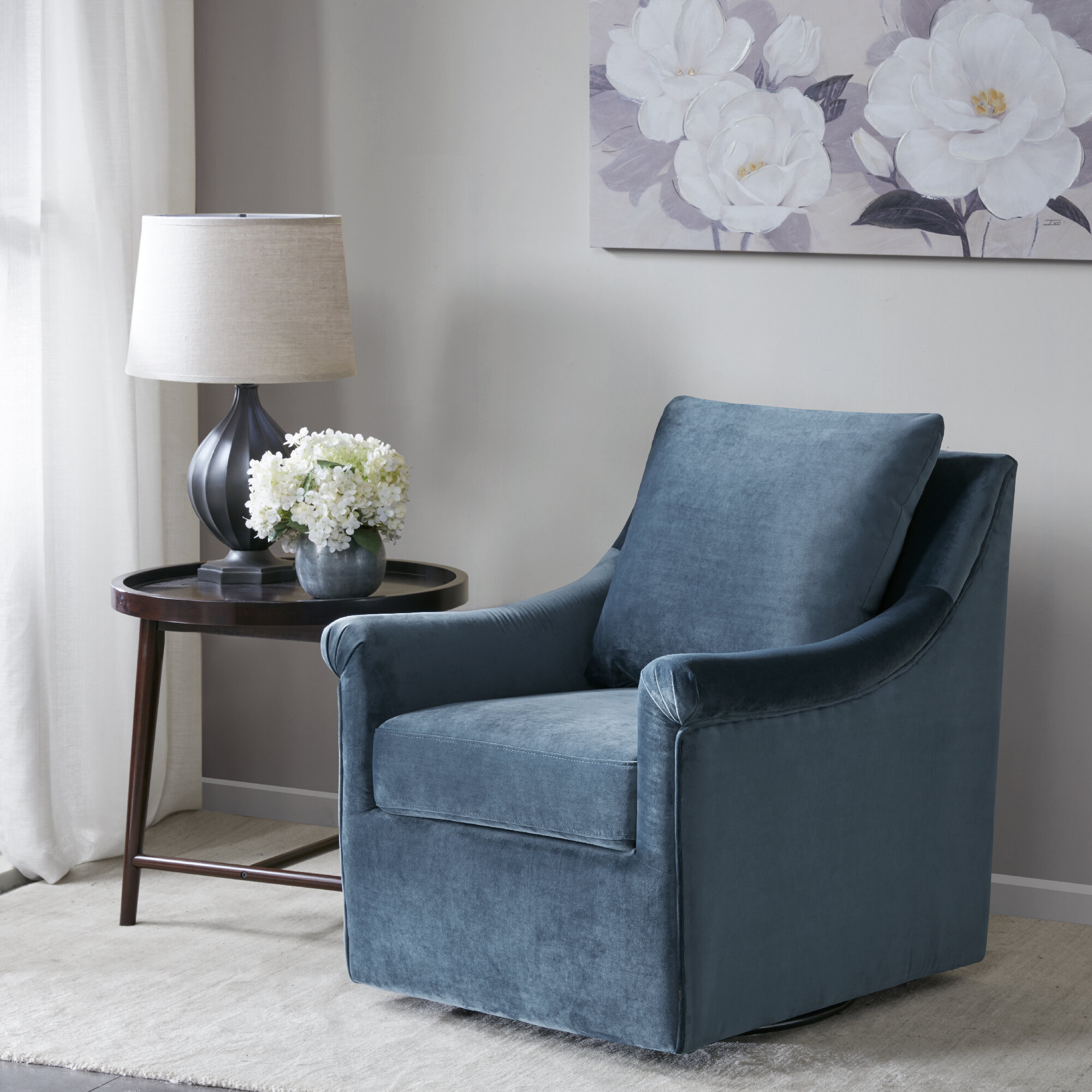 Lundell Swivel Armchair Intended For Cohutta Armchairs (View 7 of 15)