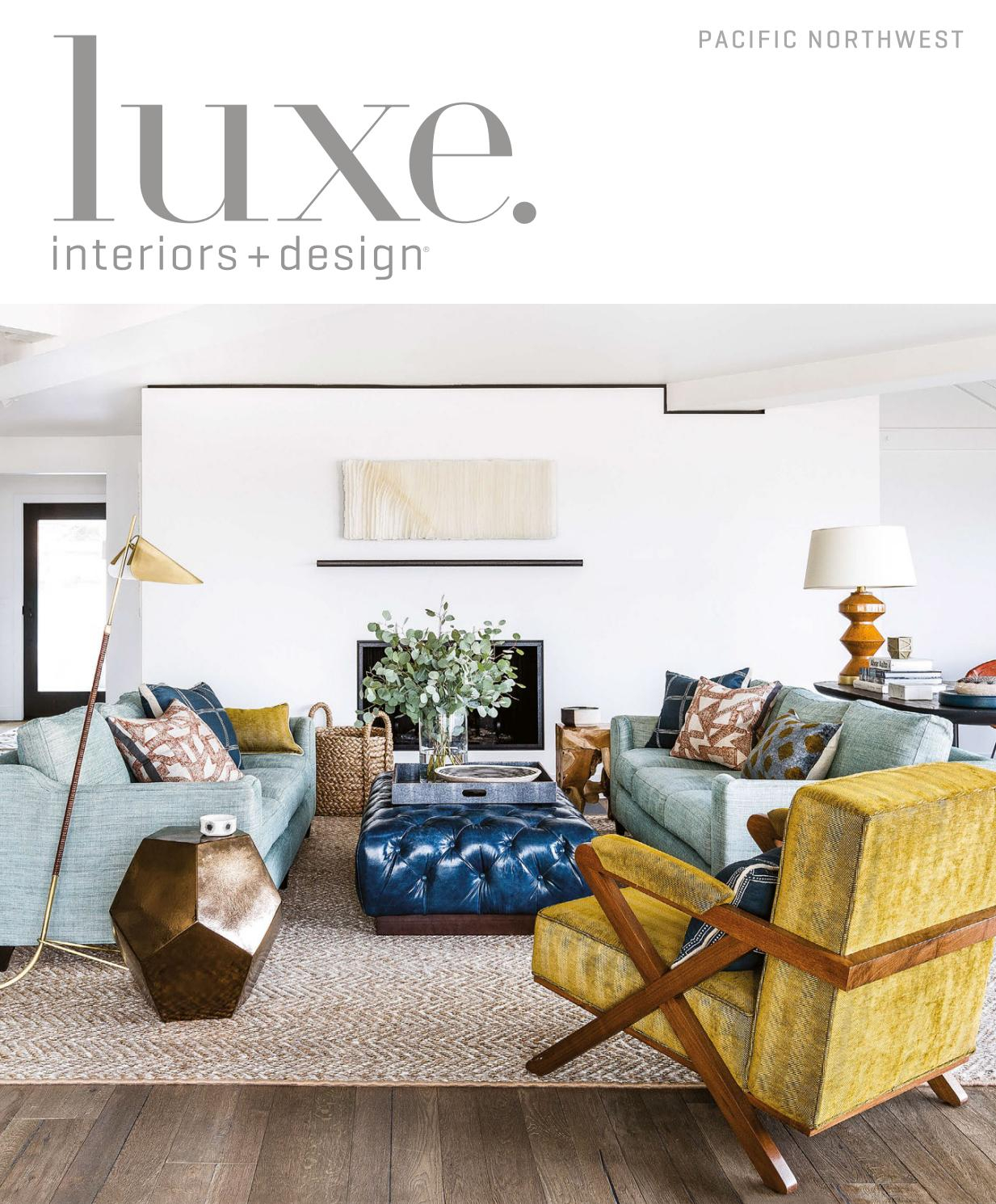 Luxe Magazine May 2017 Pacific Northwestsandow® – Issuu With Gilad Faux Leather Barrel Chairs (View 10 of 15)