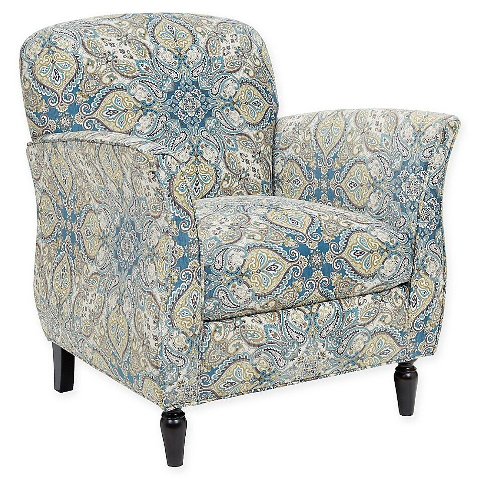 Madison Park Escher Accent Chair In Blue In 2020 | Blue Throughout Wainfleet Armchairs (Photo 6 of 15)