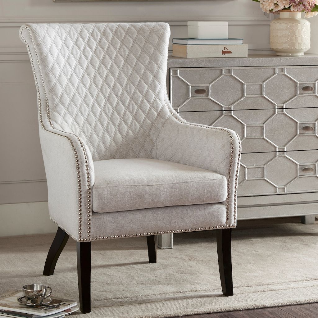 Madison Park Lea Tufted Accent Chair | Accent Chairs, Tufted In Busti Wingback Chairs (View 12 of 15)