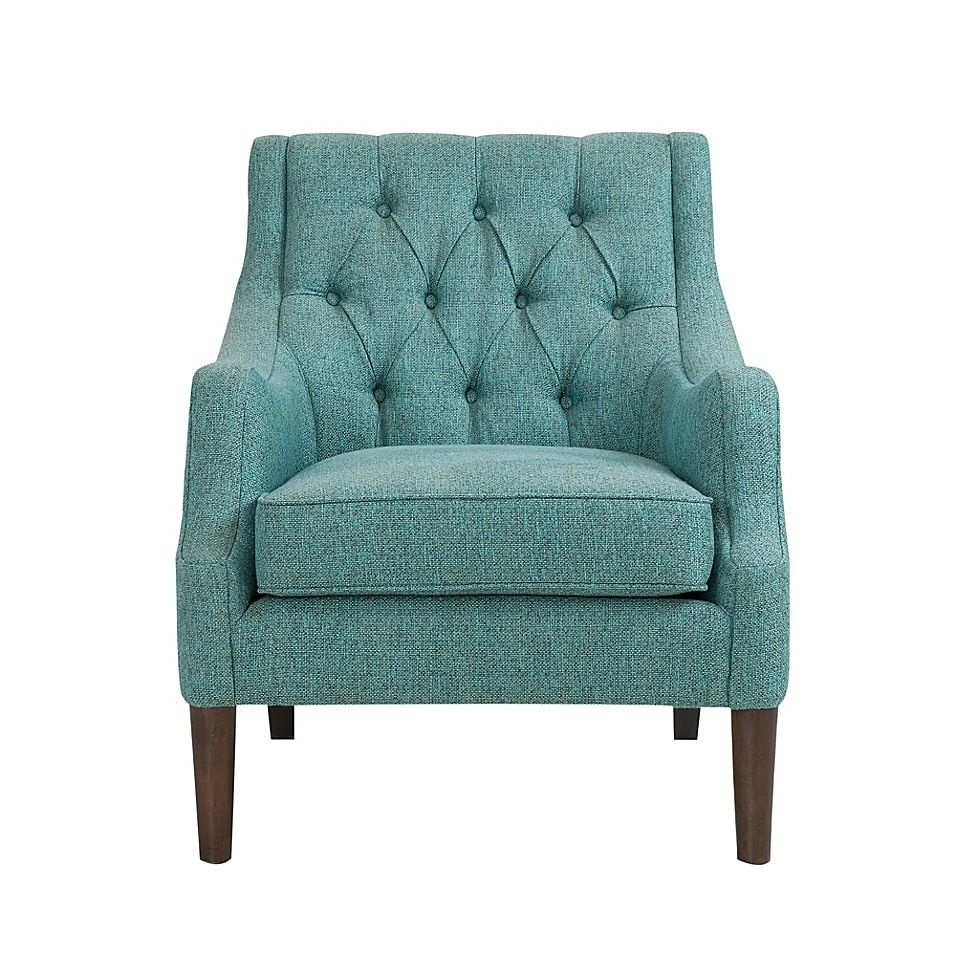 Madison Park Qwen Tufted Accent Chair In 2020 | Tufted Inside Galesville Tufted Polyester Wingback Chairs (View 11 of 15)