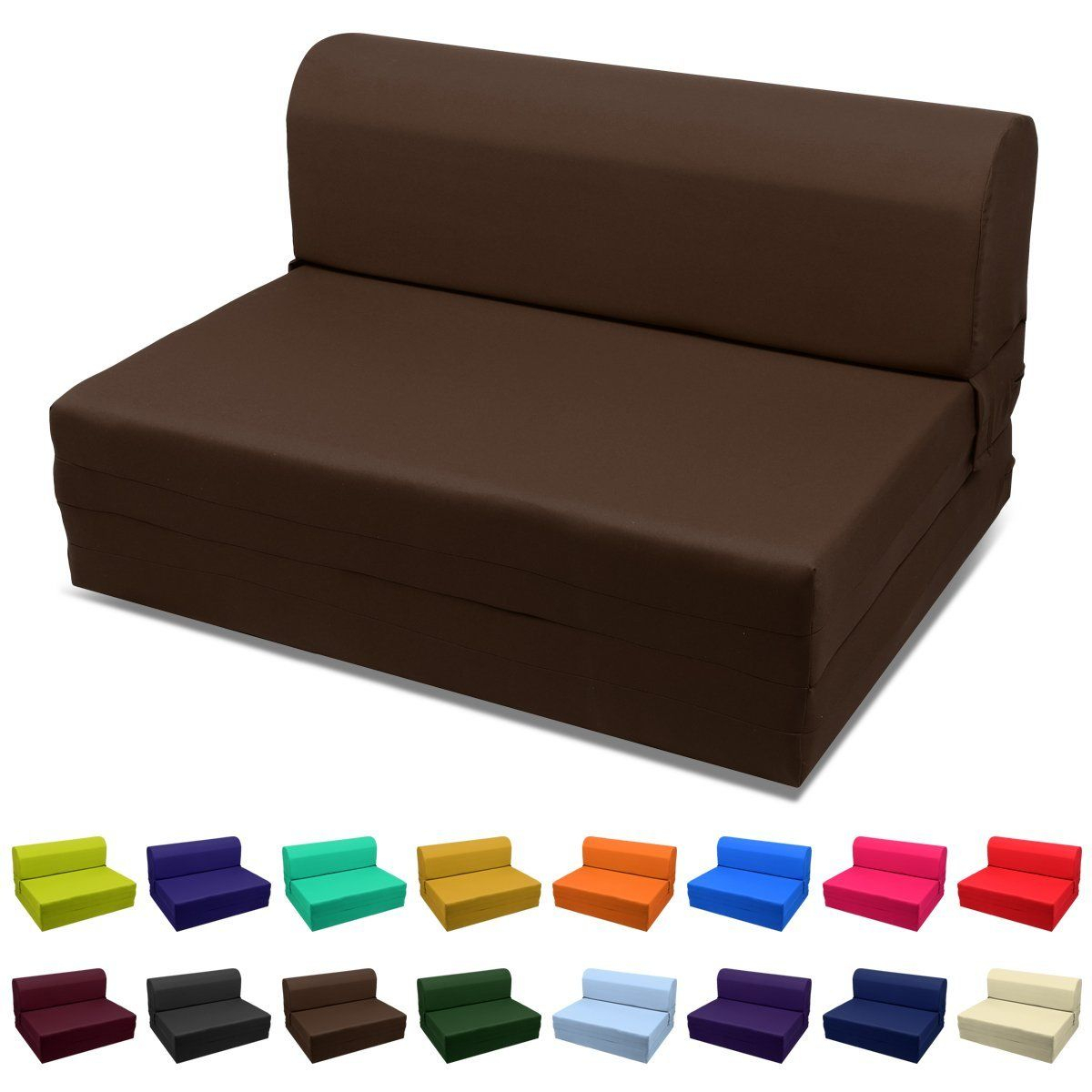 Magshion Futon Furniture Sleeper Chair Folding Foam Bed With Regard To Onderdonk Faux Leather Convertible Chairs (View 9 of 15)