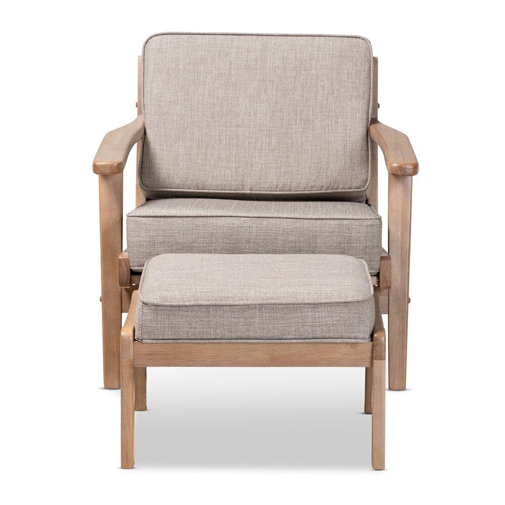 Malmesbury Lounge Chair And Ottoman Regarding Akimitsu Barrel Chair And Ottoman Sets (View 6 of 15)