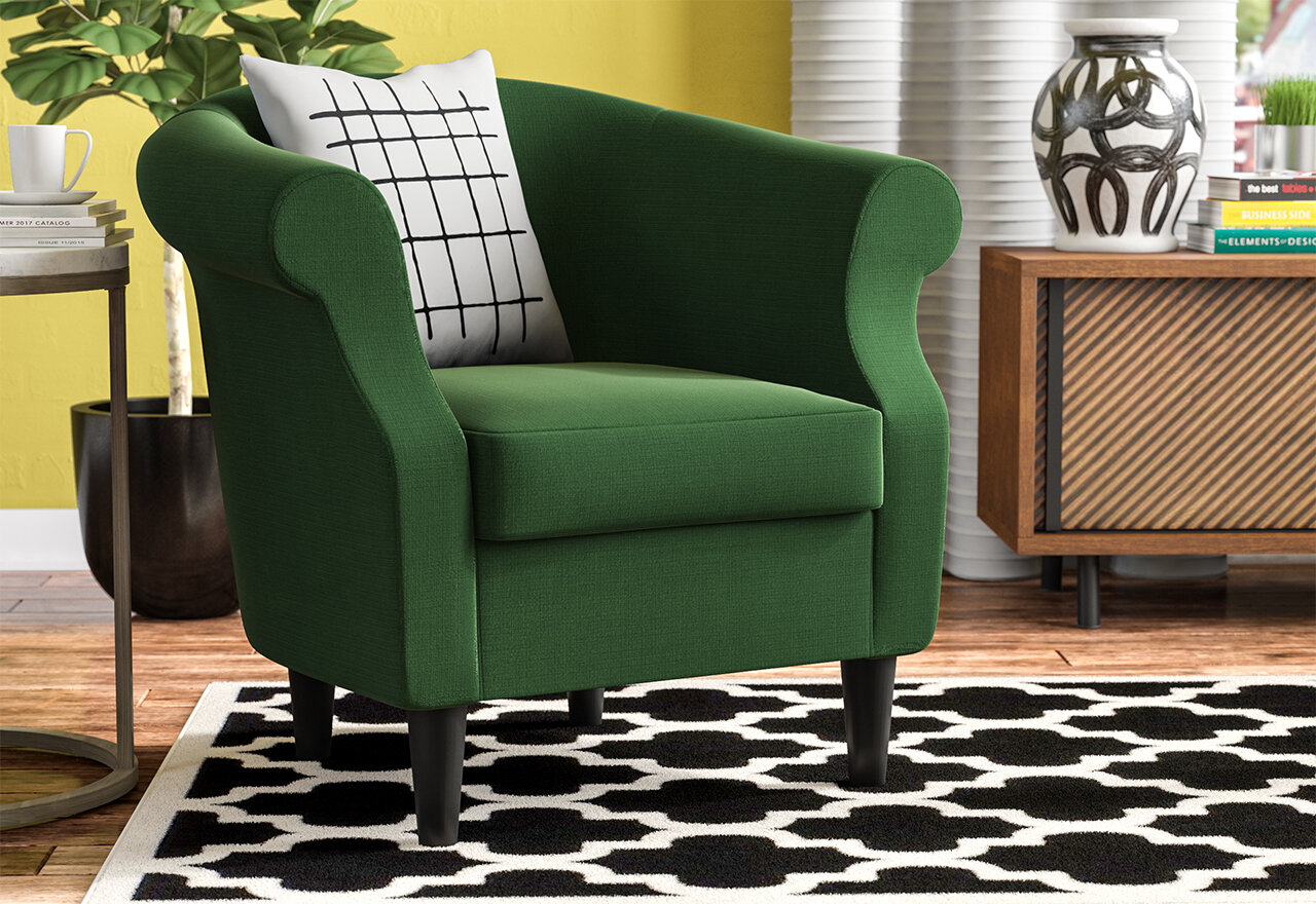 Marsdeni Barrel Chair With Regard To Ronda Barrel Chairs (View 9 of 15)