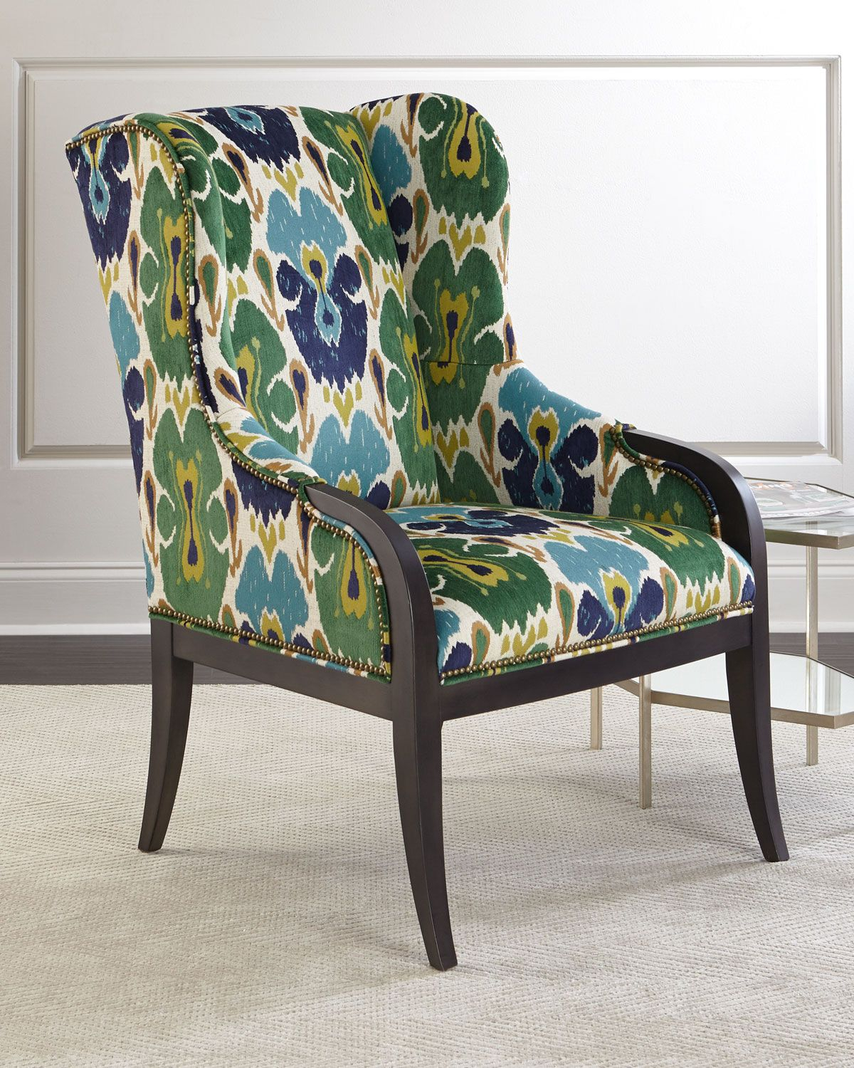 Massoud Rosemary Wing Chair | Chairs Loft, Contemporary Throughout Waterton Wingback Chairs (View 9 of 15)