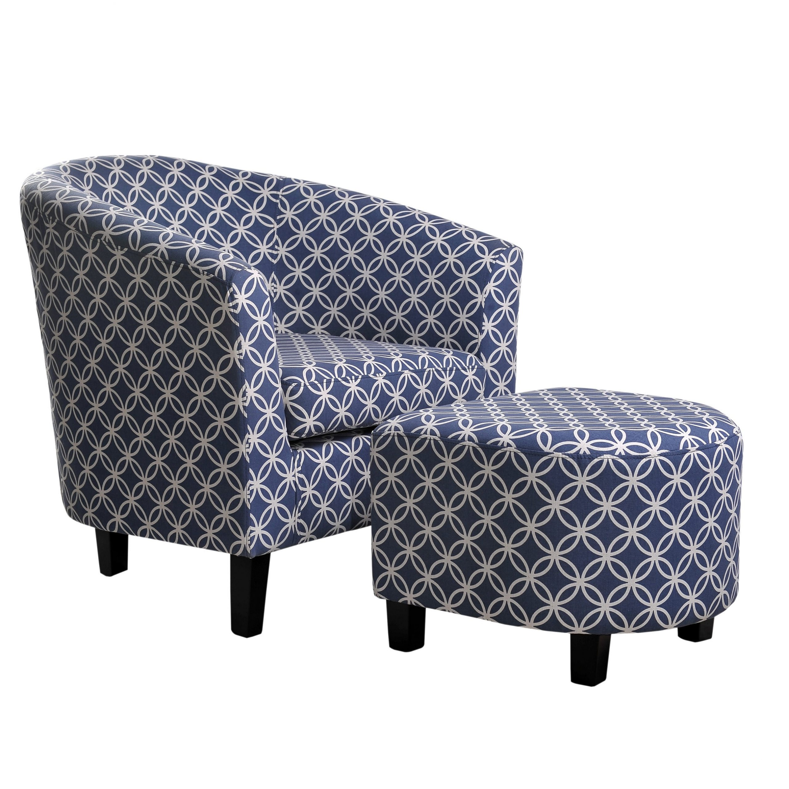 "Mcfadden 21"" Barrel Chair And Ottoman With Artemi Barrel Chair And Ottoman Sets (View 3 of 15)"