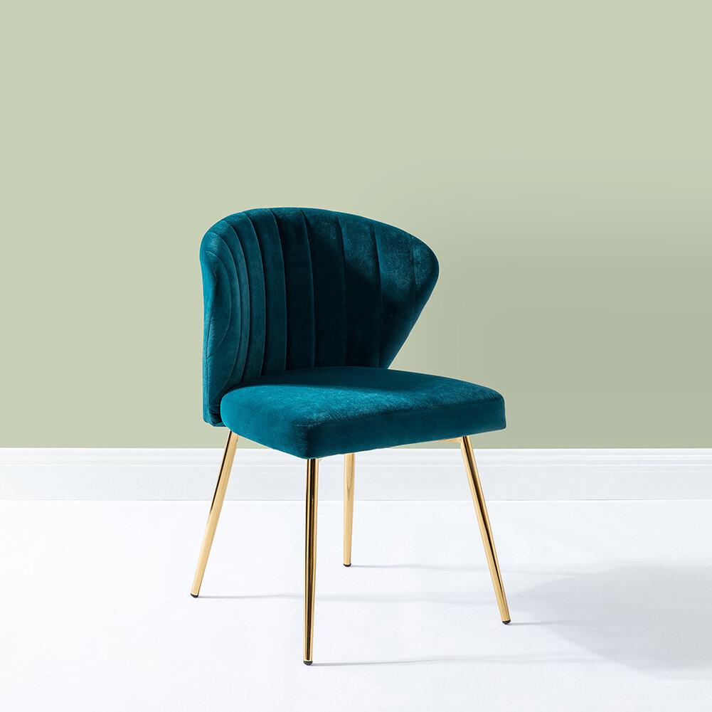 "Mercer41 Daulton 20"" W Velvet Side Chair & Reviews | Wayfair (View 2 of 15)"