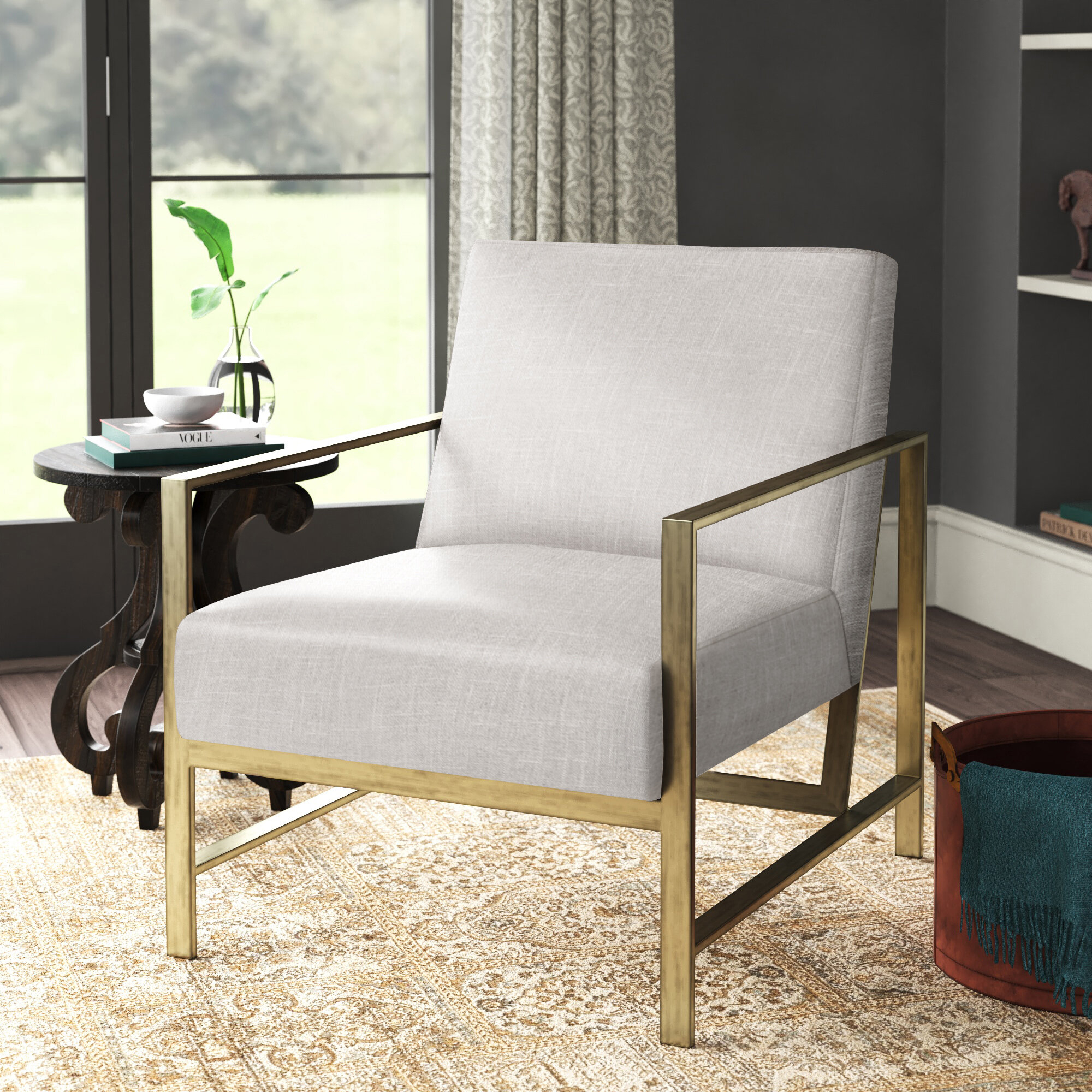 Metal Accent Chairs You'Ll Love In 2021 | Wayfair Intended For Ragsdale Armchairs (View 14 of 15)