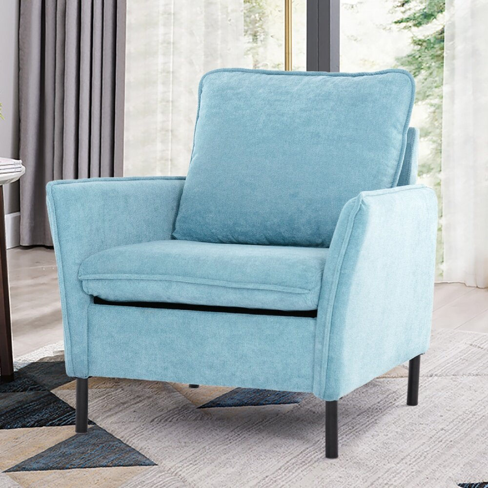 Metal Scandinavian Accent Chairs You'Ll Love In 2021 | Wayfair Intended For Ragsdale Armchairs (View 2 of 15)