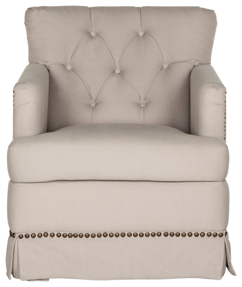 Millicent Swivel Chair – Transitional – Armchairs And Accent Inside Ragsdale Armchairs (View 8 of 15)