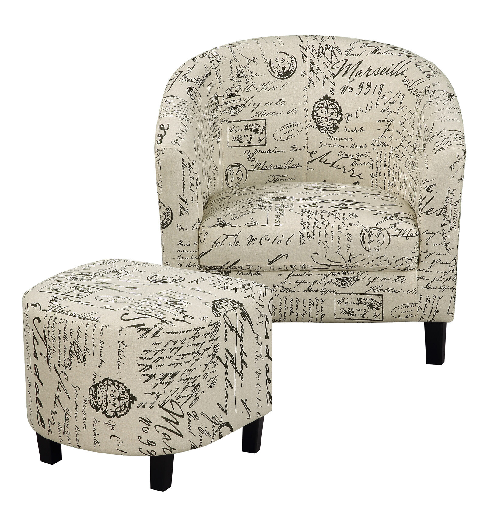 Misael Barrel Chair And Ottoman With Louisiana Barrel Chair And Ottoman Sets (View 5 of 15)