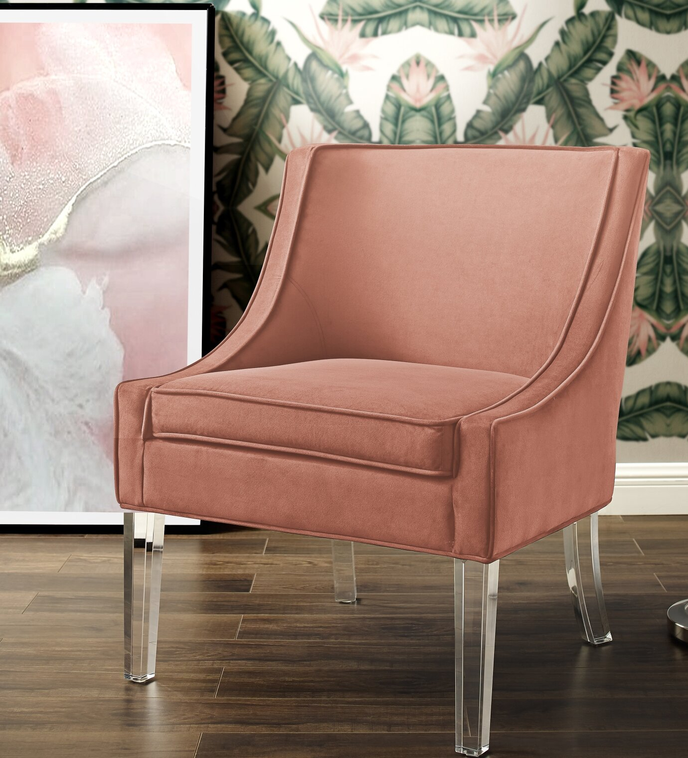 Modern & Contemporary Slipper Accent Chairs You'Ll Love In For Easterling Velvet Slipper Chairs (Photo 13 of 15)