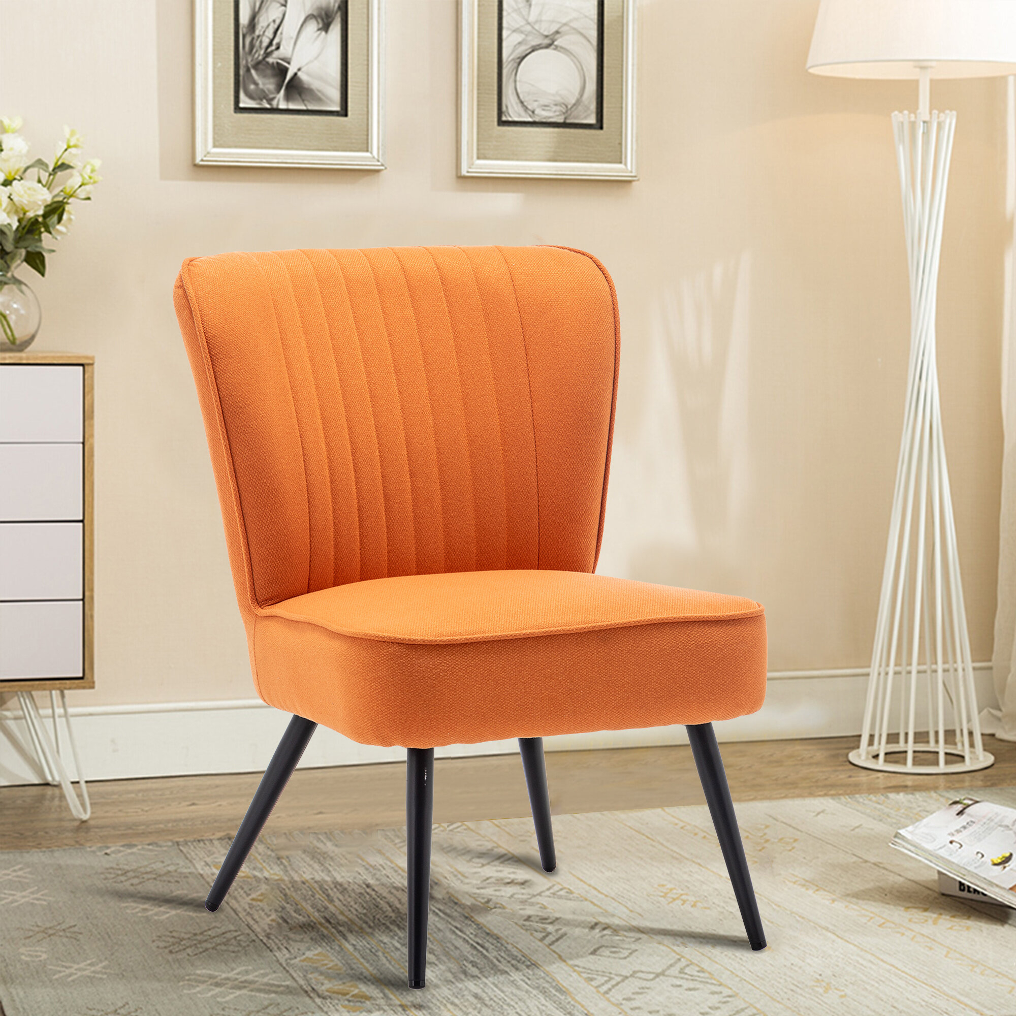 Modern & Contemporary Slipper Accent Chairs You'Ll Love In In Alush Accent Slipper Chairs (Set Of 2) (View 10 of 15)